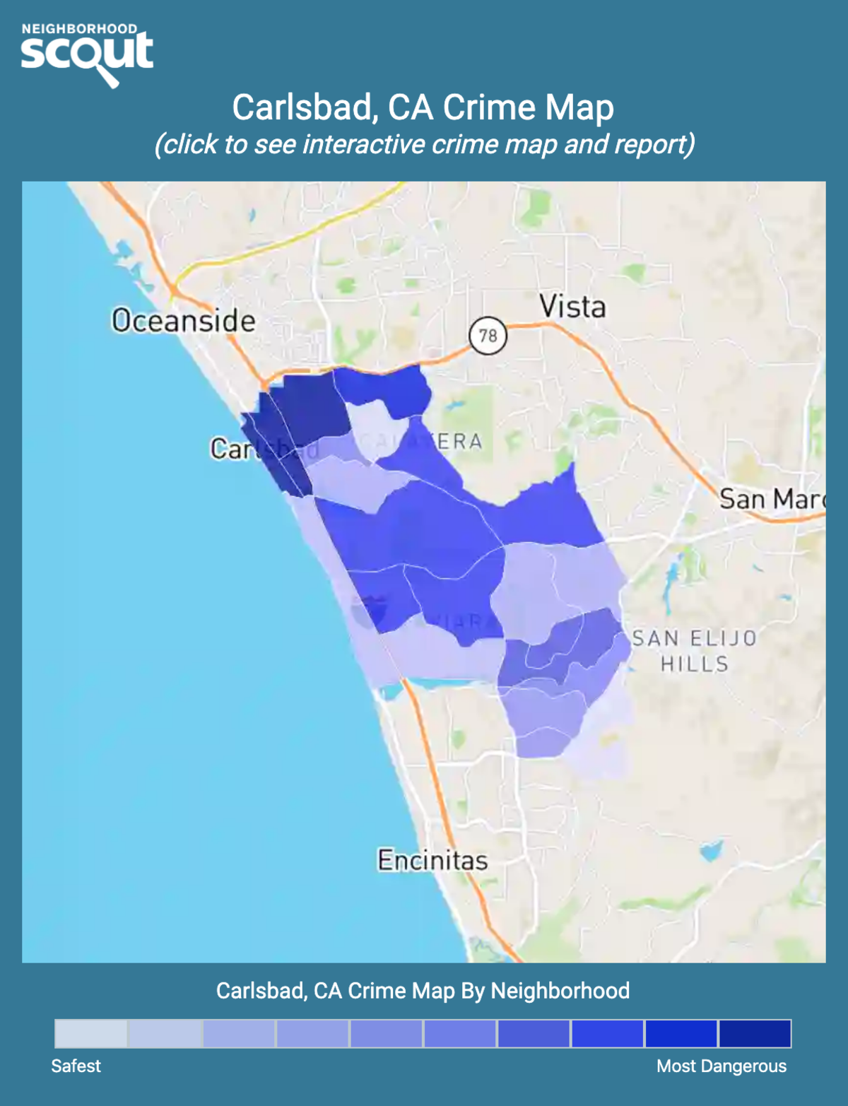 Carlsbad, California crime map