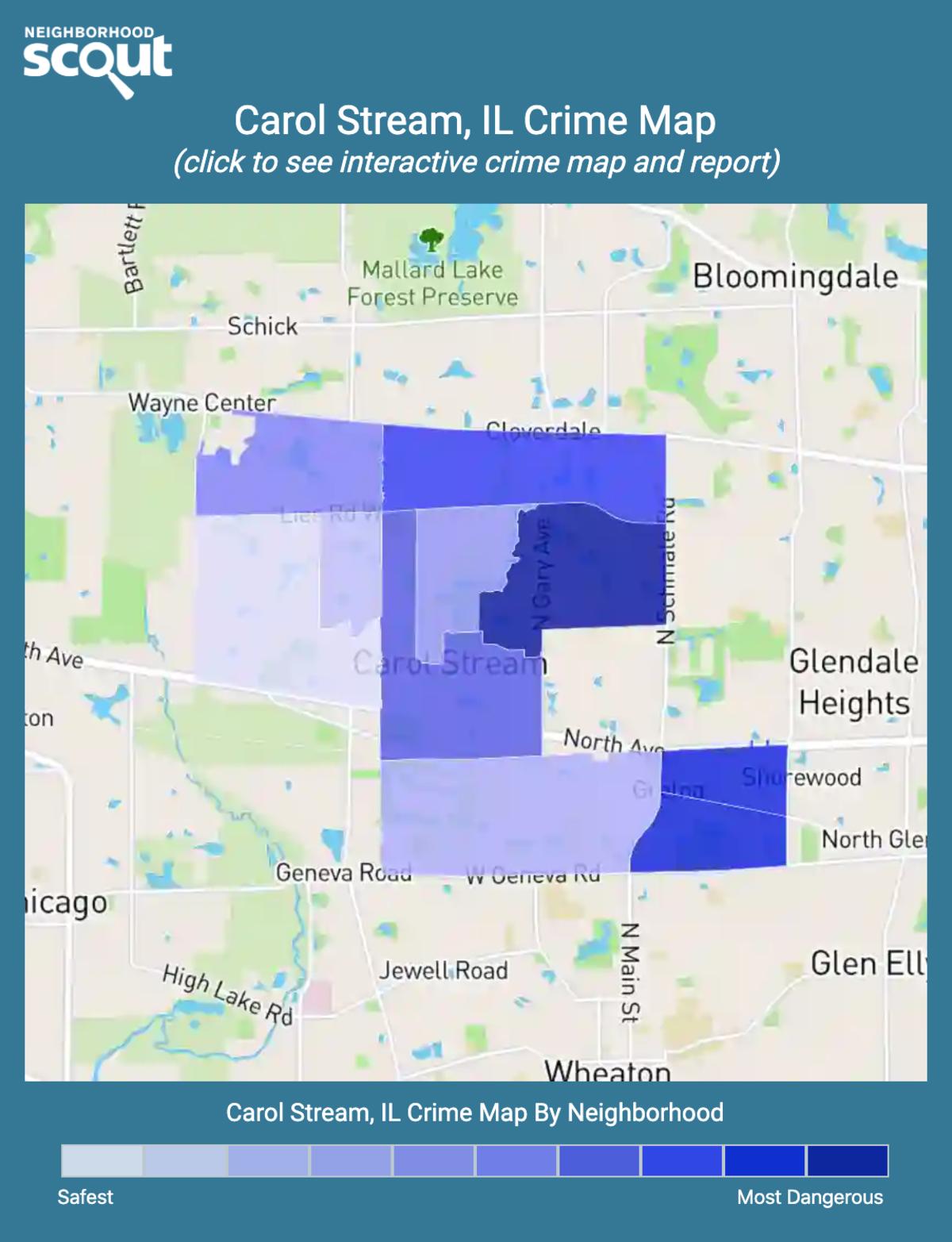 Carol Stream, Illinois crime map