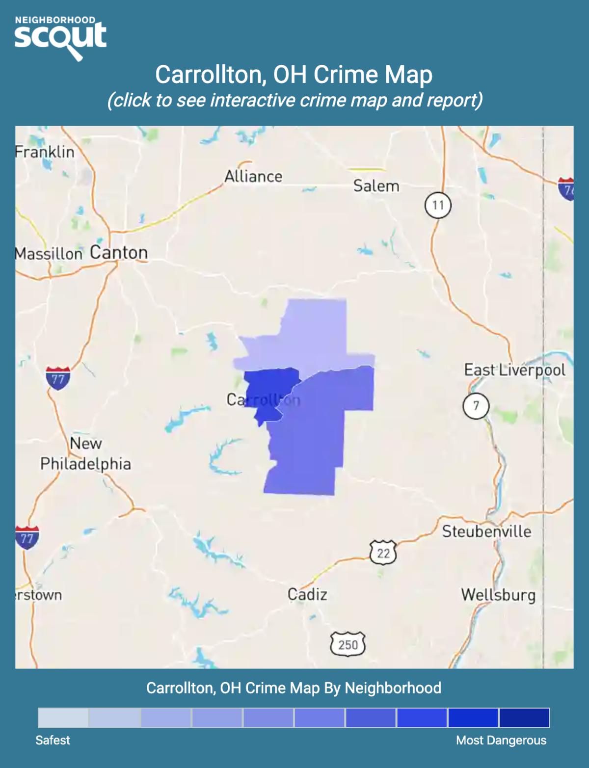 Carrollton, Ohio crime map