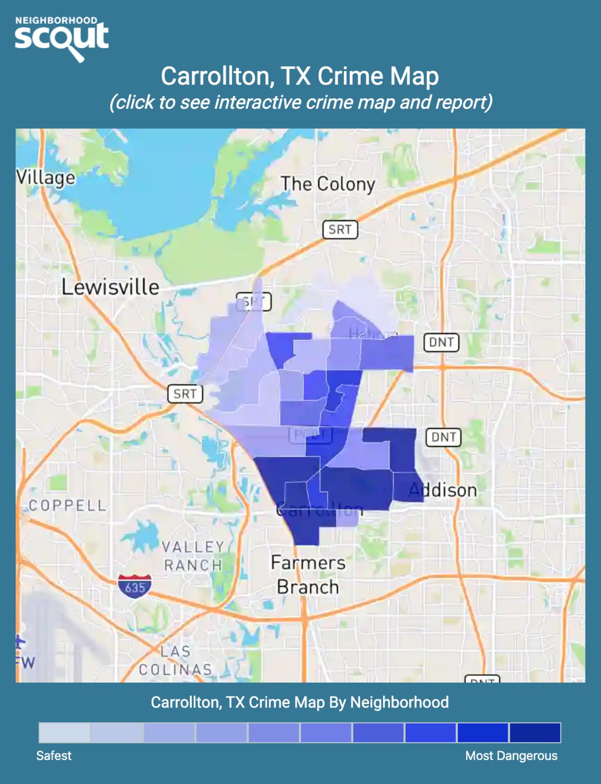 Carrollton, Texas crime map