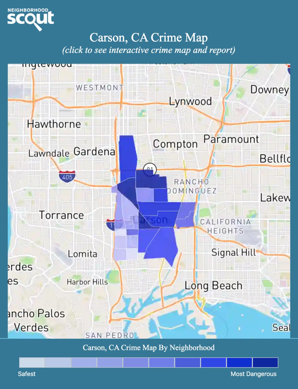 Carson, California crime map