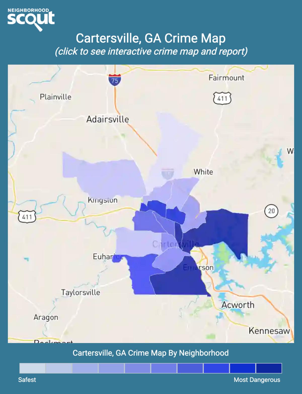 Cartersville, Georgia crime map