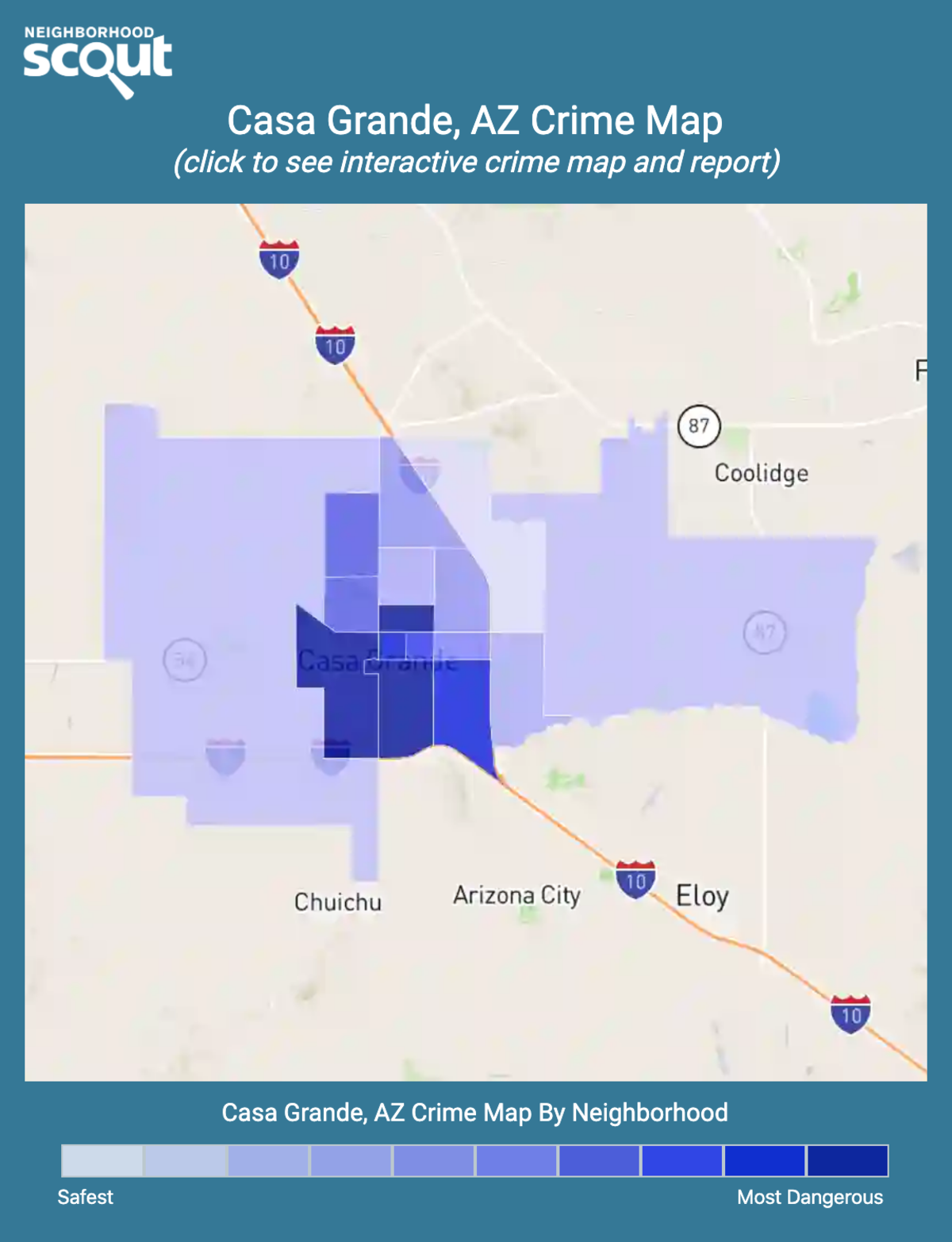 Casa Grande, Arizona crime map