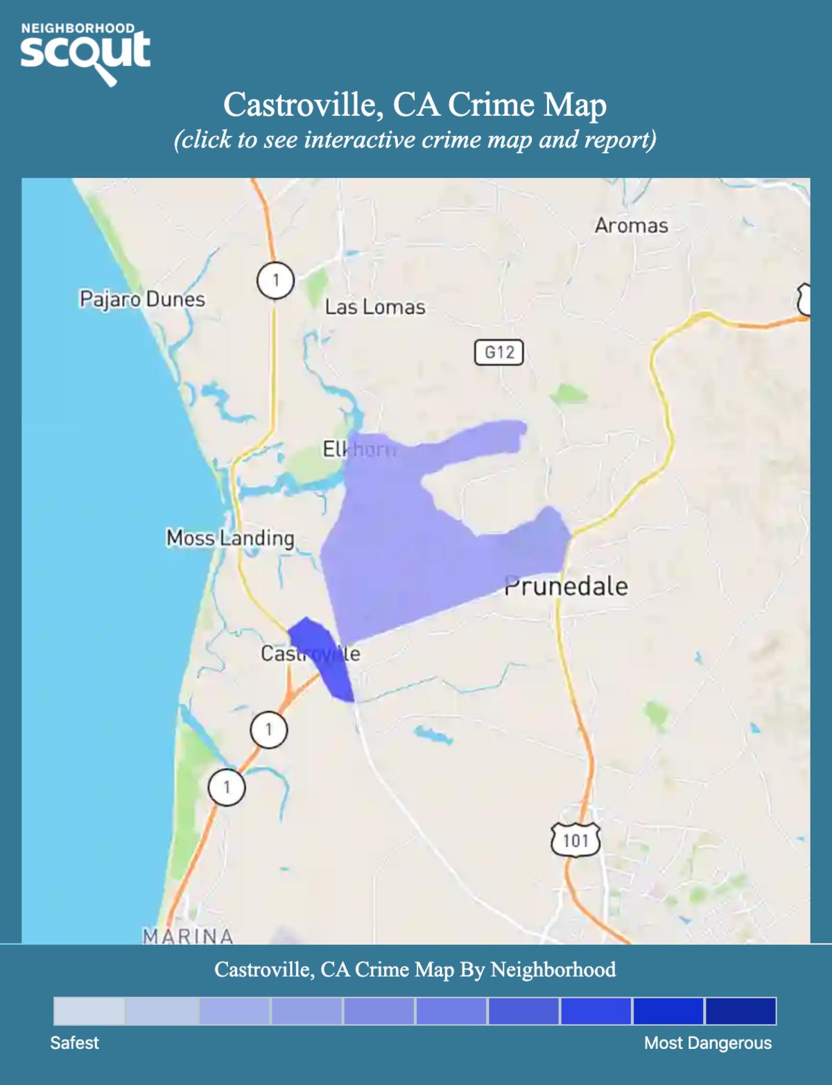 Castroville, California crime map