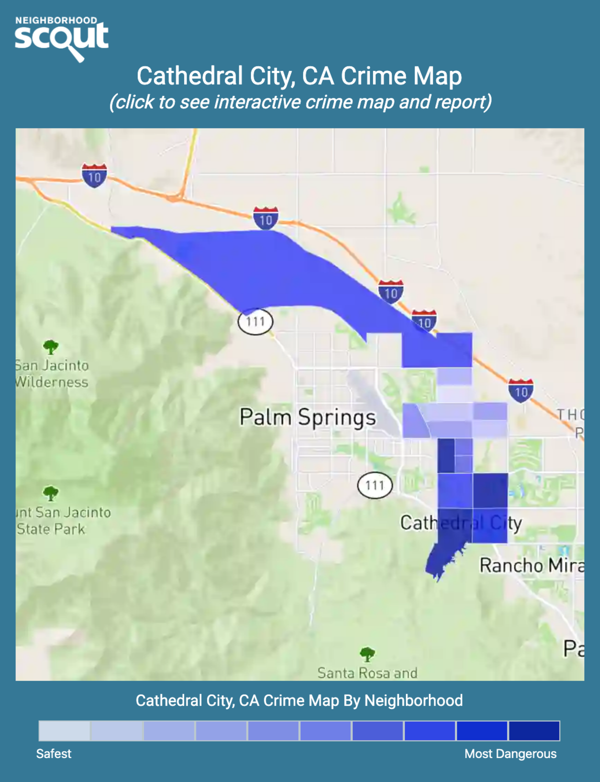 Cathedral City, California crime map