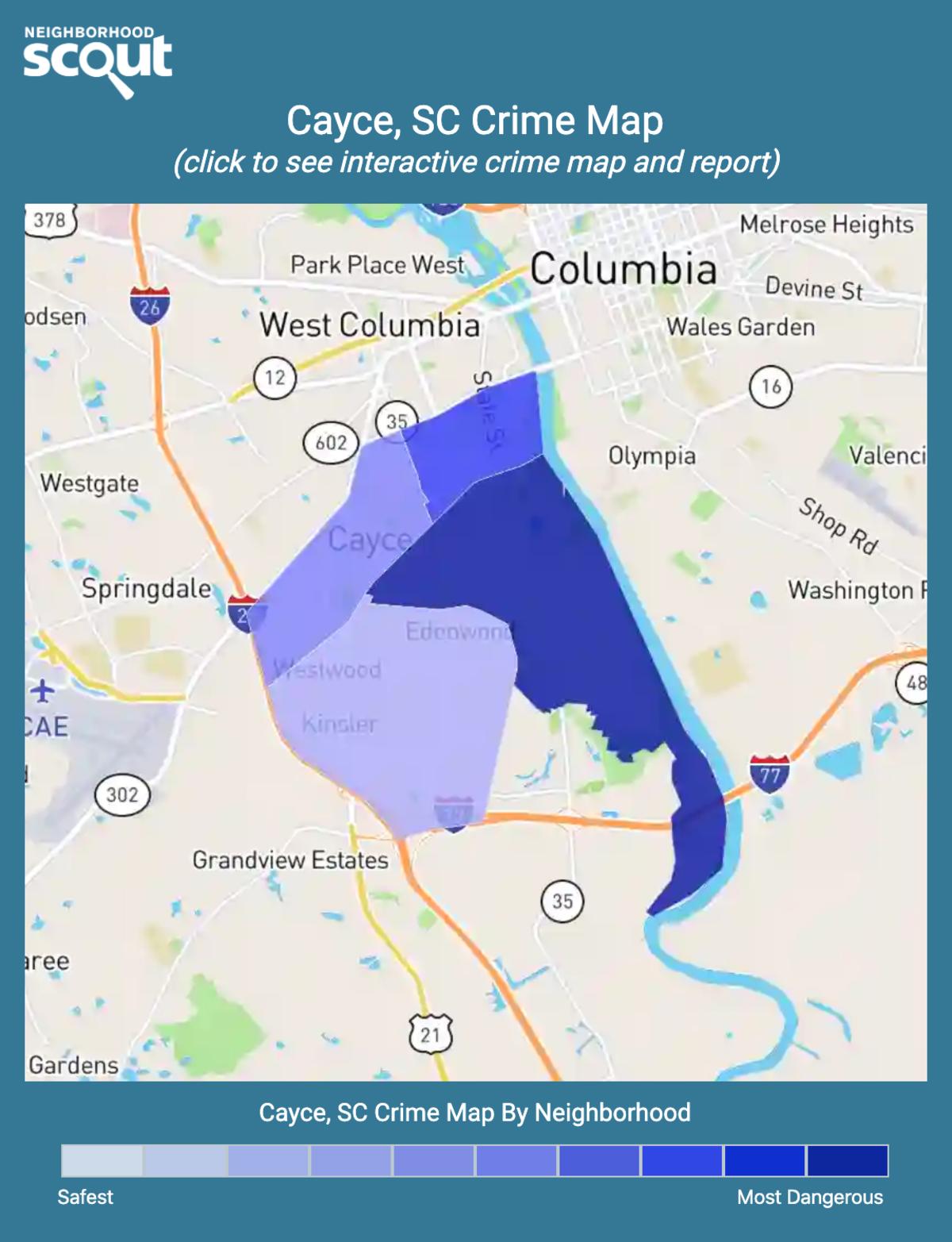 Cayce, South Carolina crime map