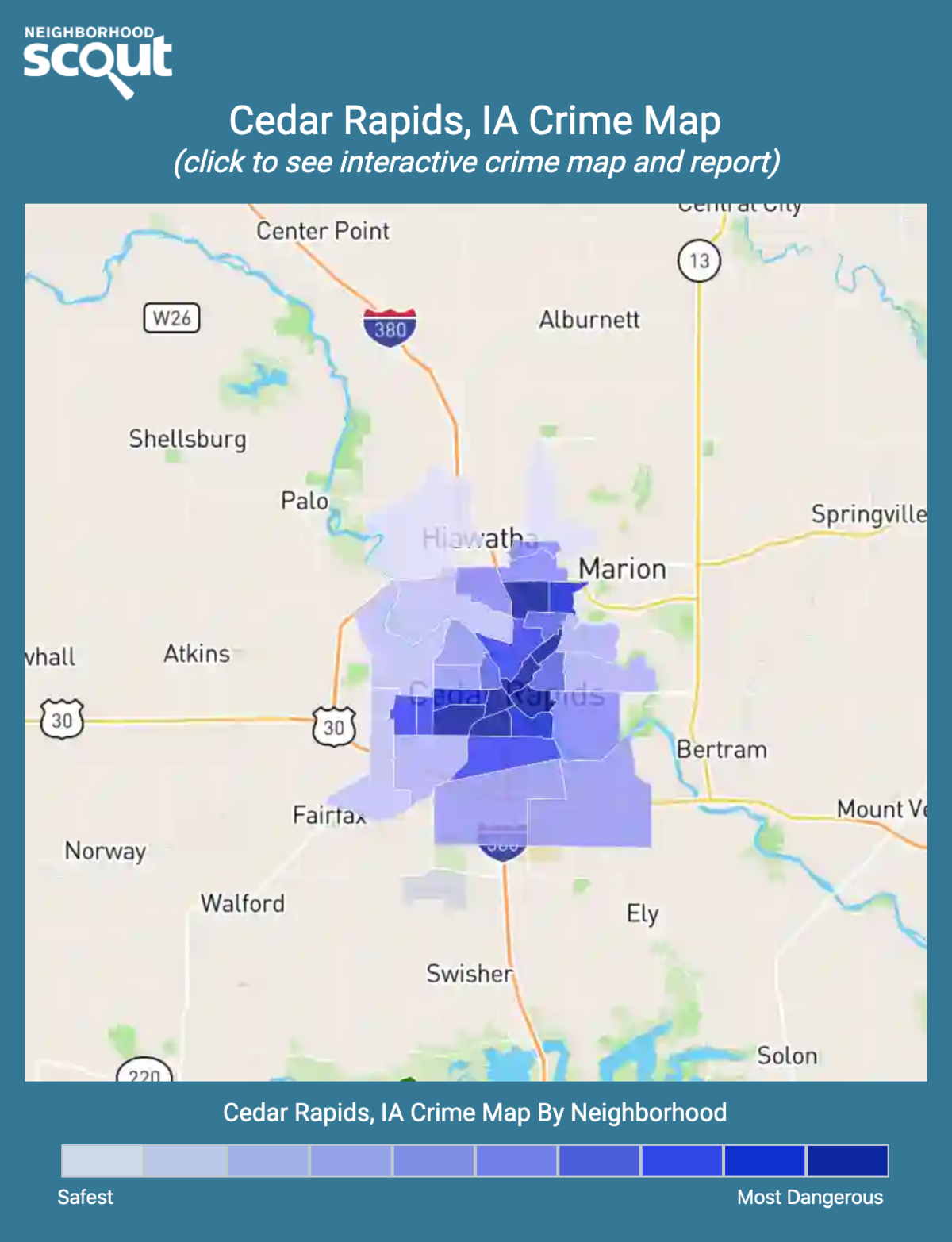Cedar Rapids, Iowa crime map