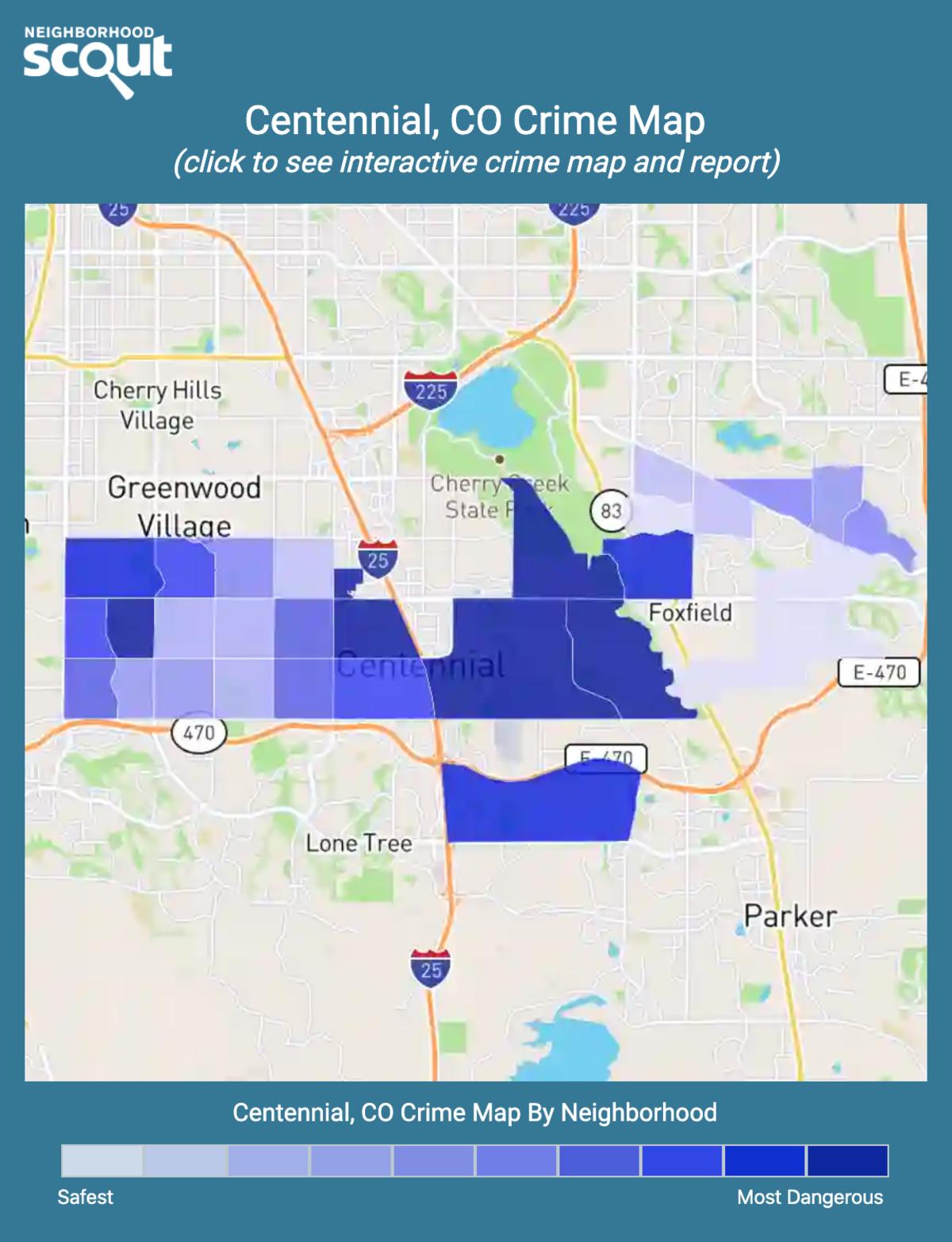 Centennial, Colorado crime map