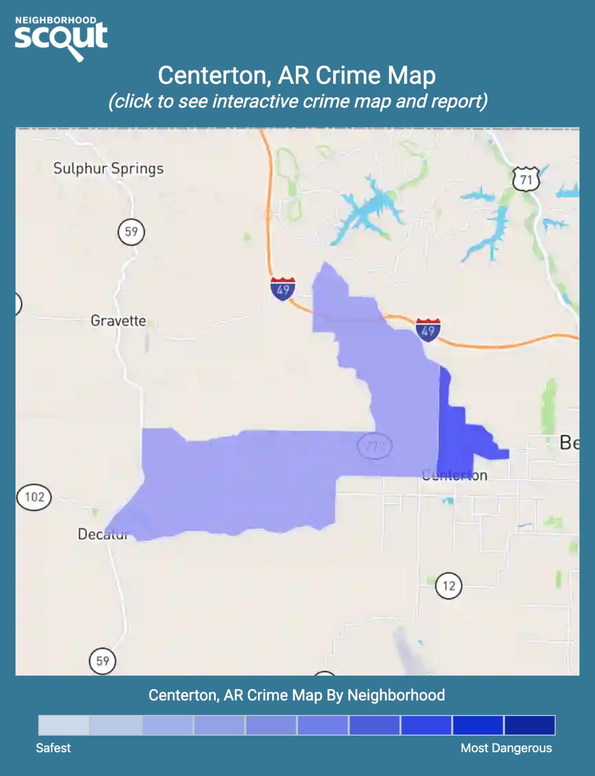 Centerton, Arkansas crime map