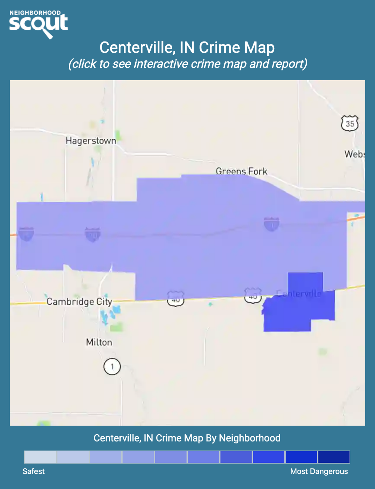 Centerville, Indiana crime map