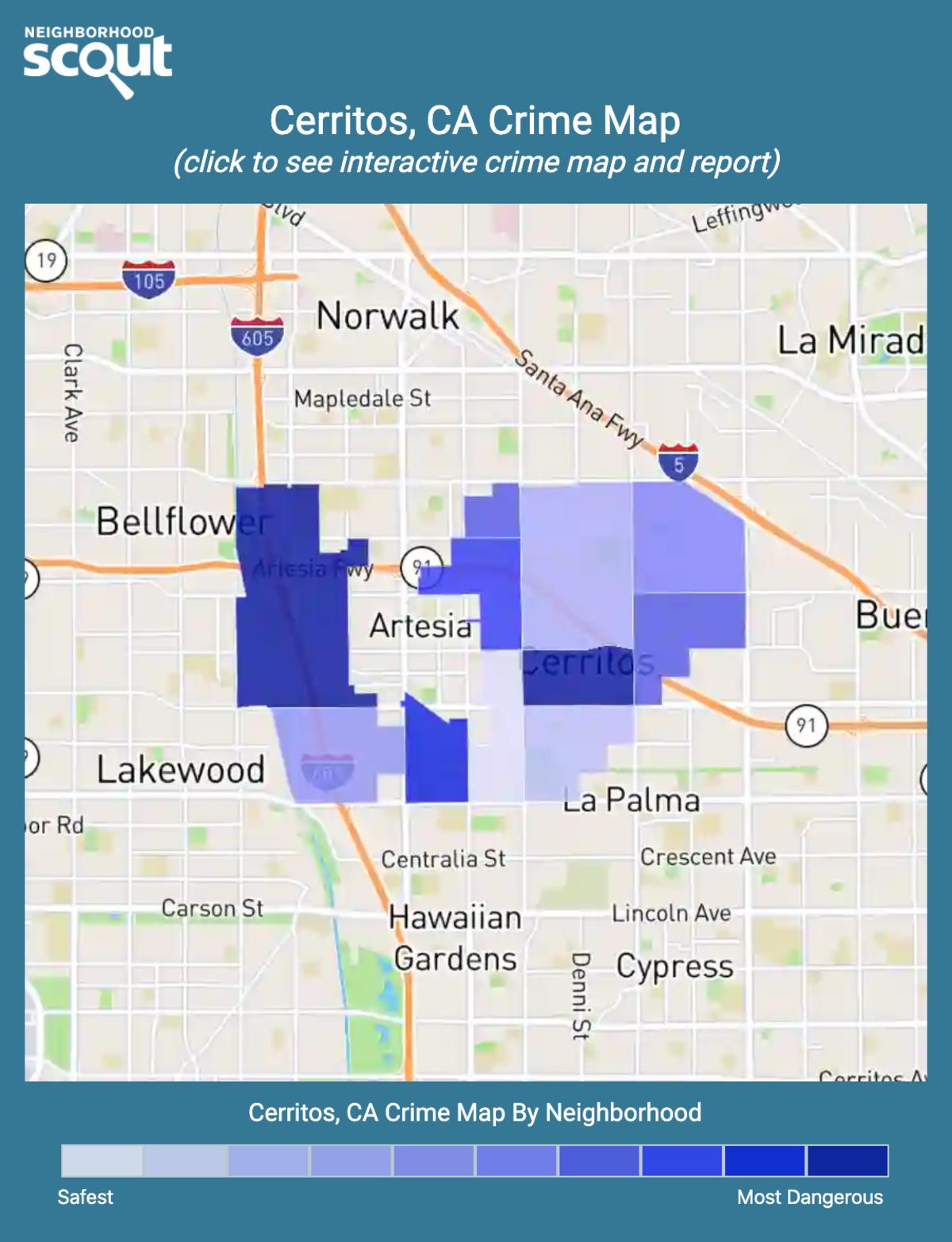 Cerritos, California crime map