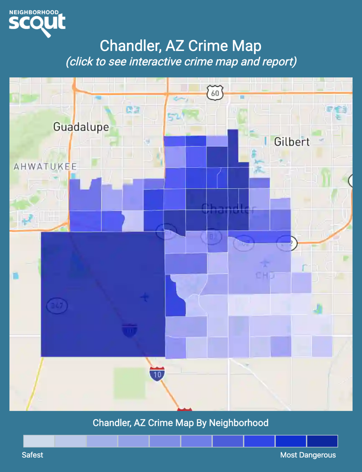 Chandler, Arizona crime map