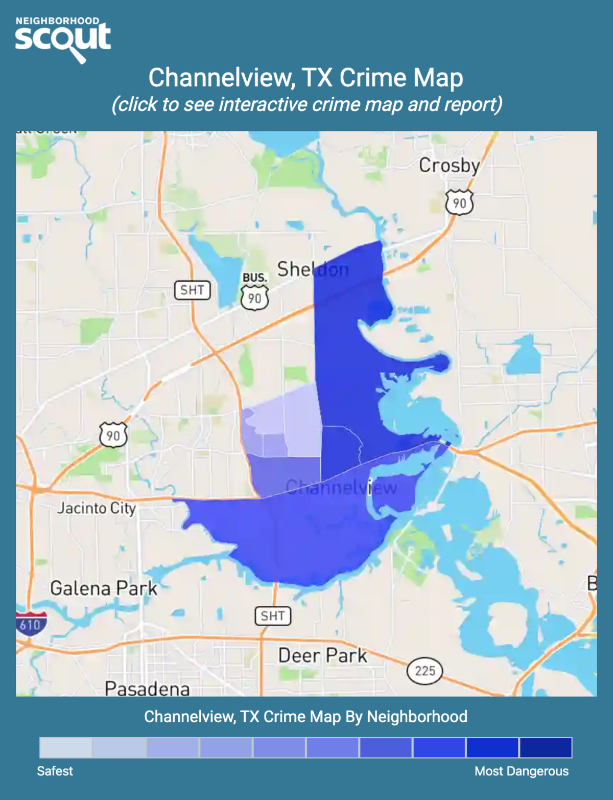 Channelview, Texas crime map