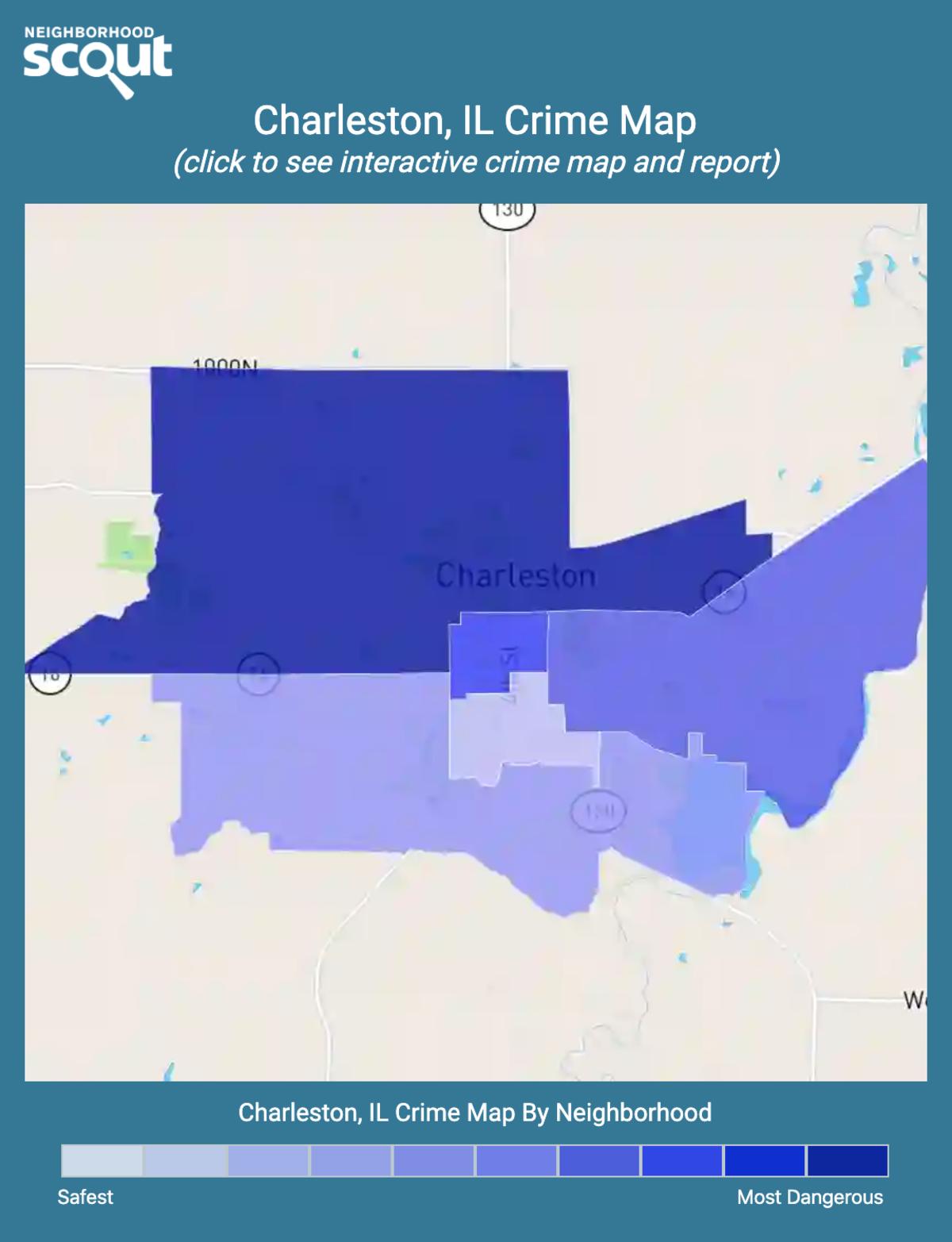 Charleston, Illinois crime map