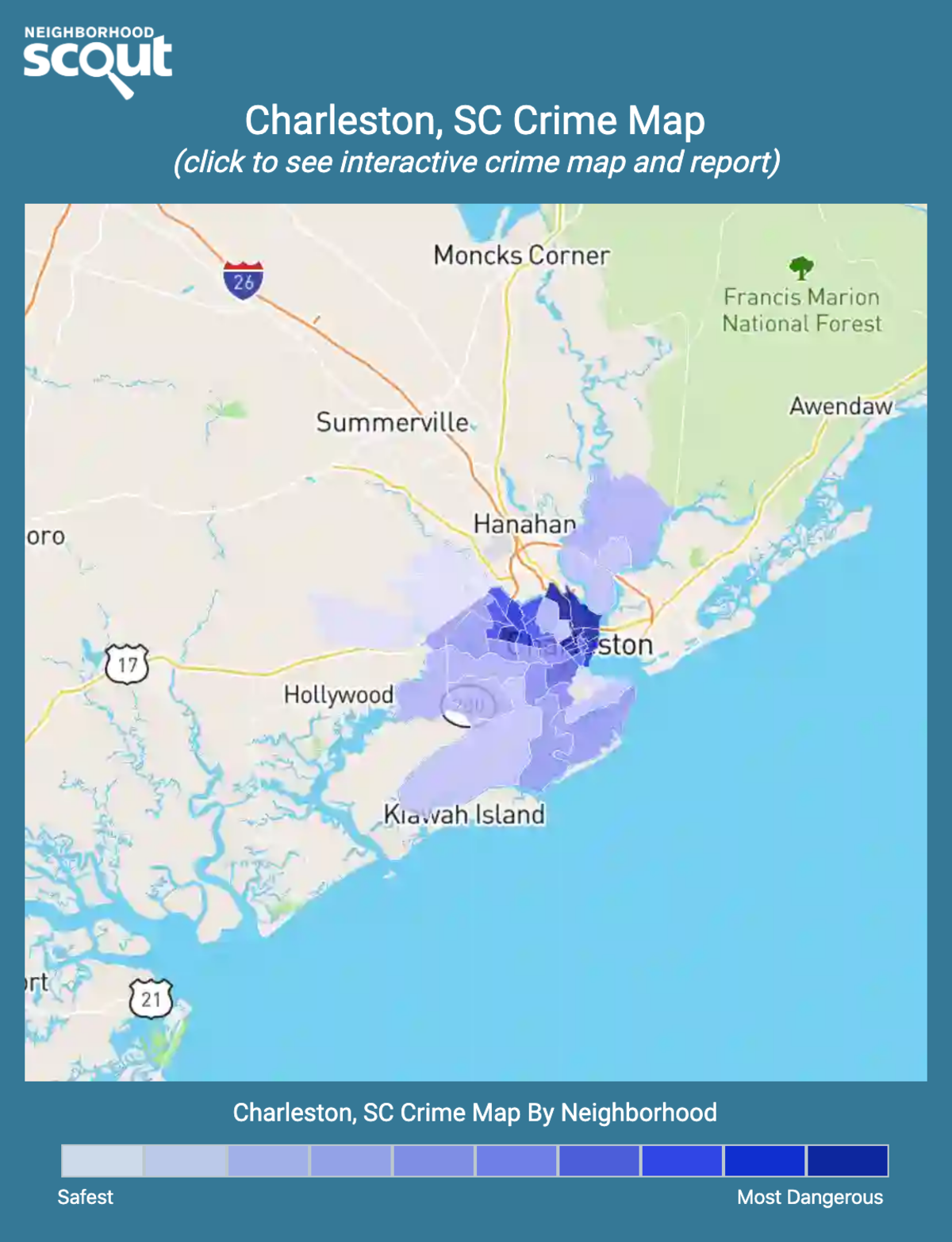 Charleston, South Carolina crime map