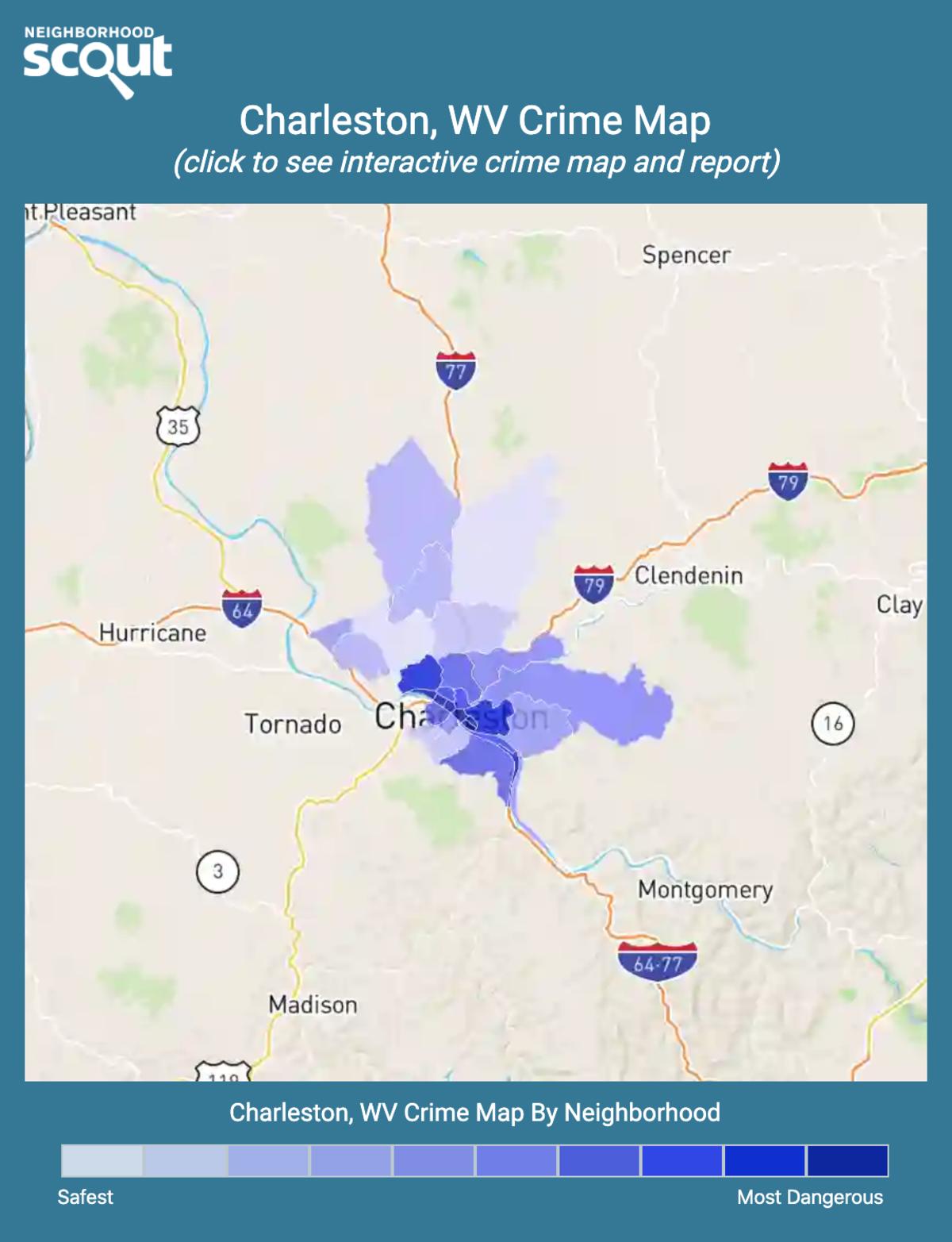 Charleston, West Virginia crime map