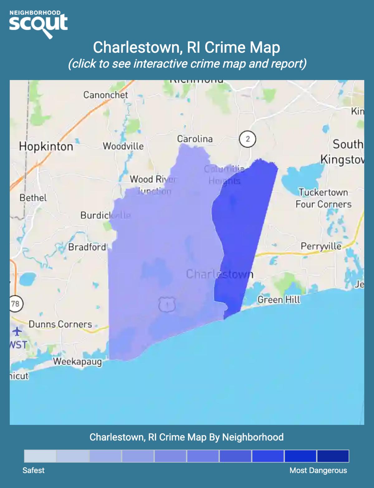 Charlestown, Rhode Island crime map