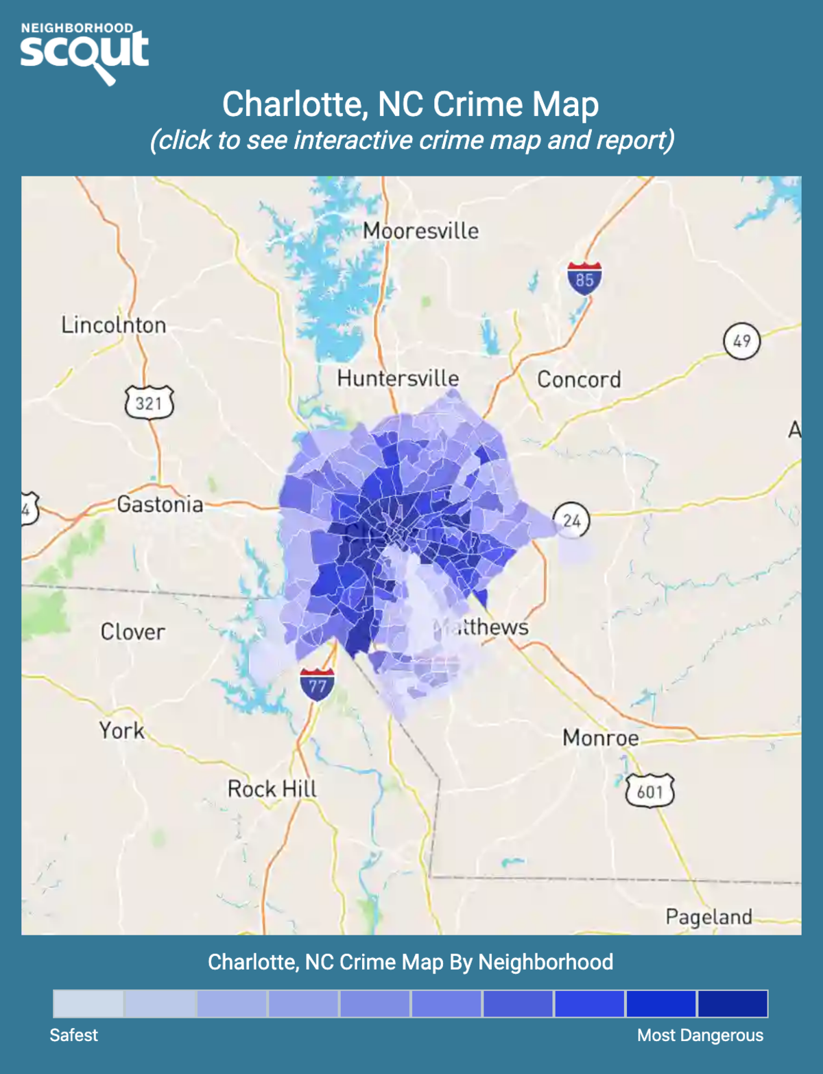 Charlotte, North Carolina crime map
