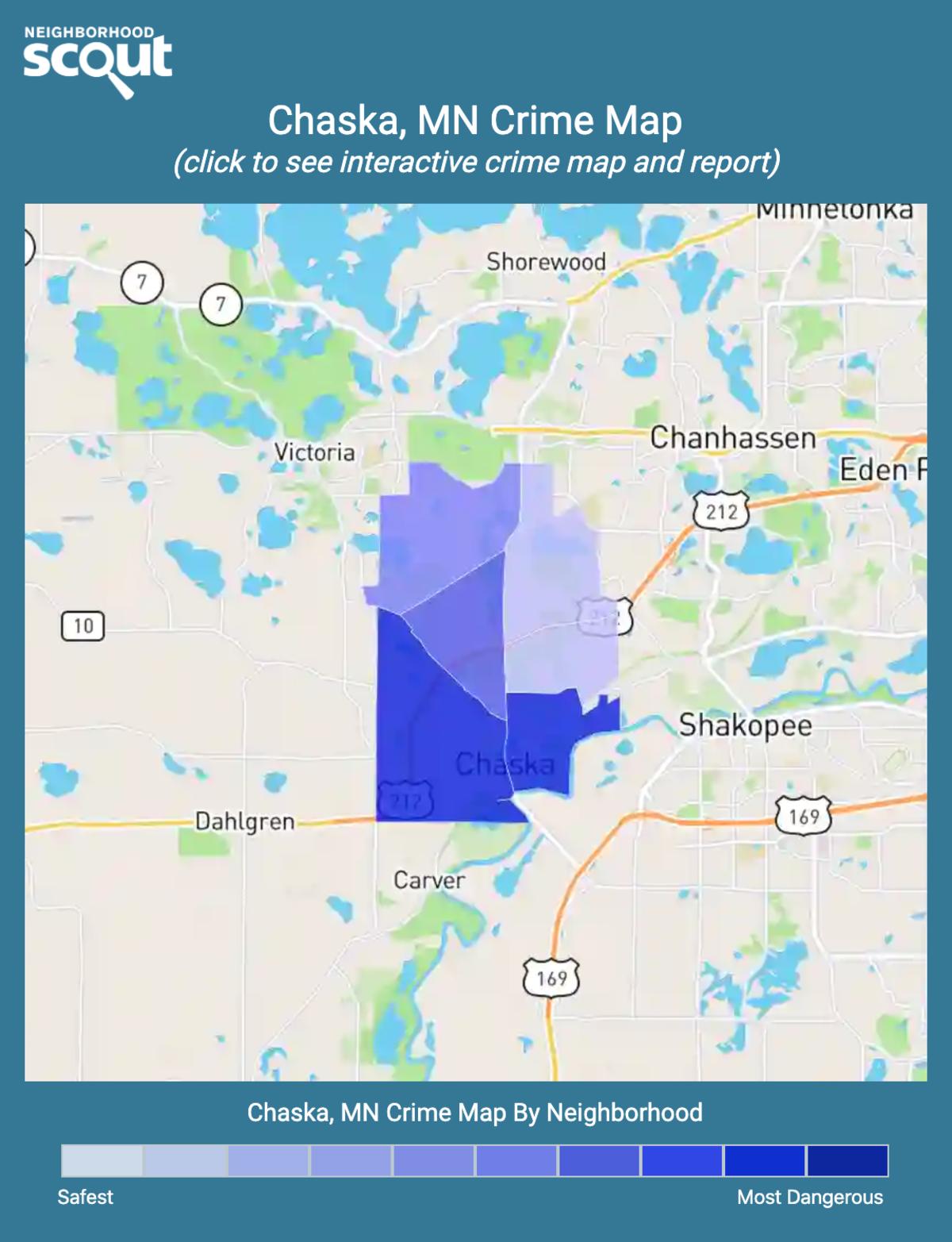 Chaska, Minnesota crime map
