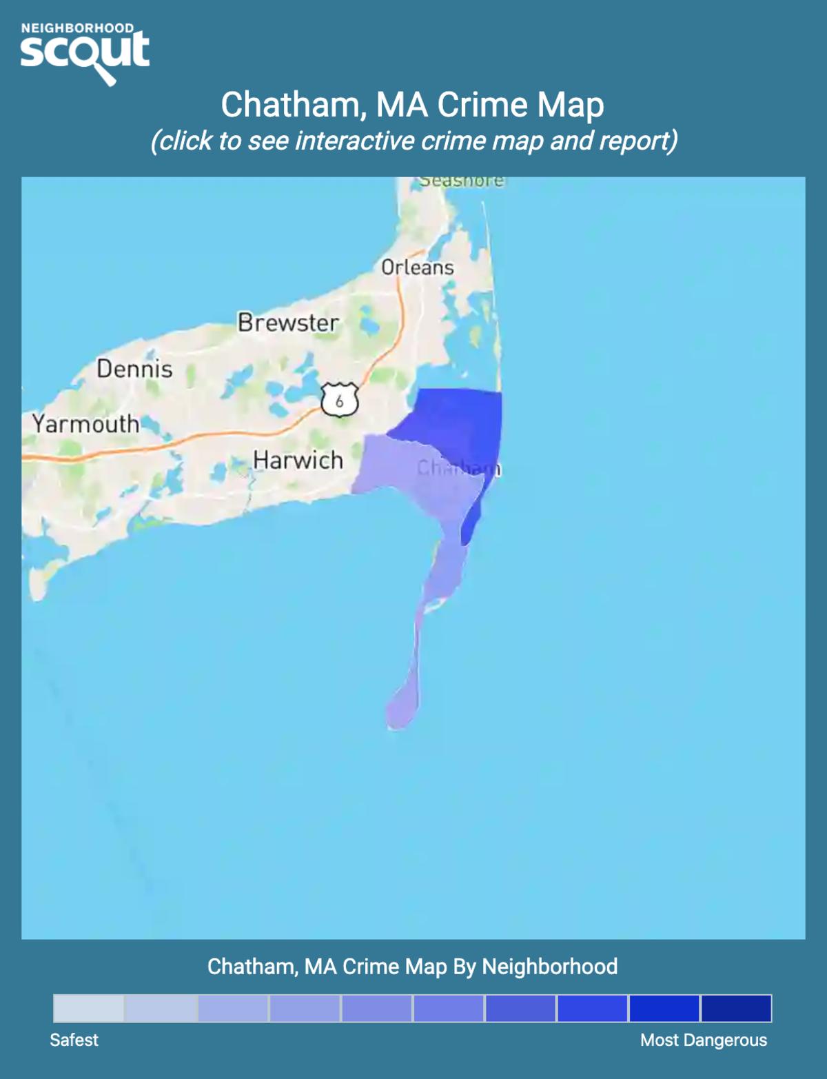 Chatham, Massachusetts crime map