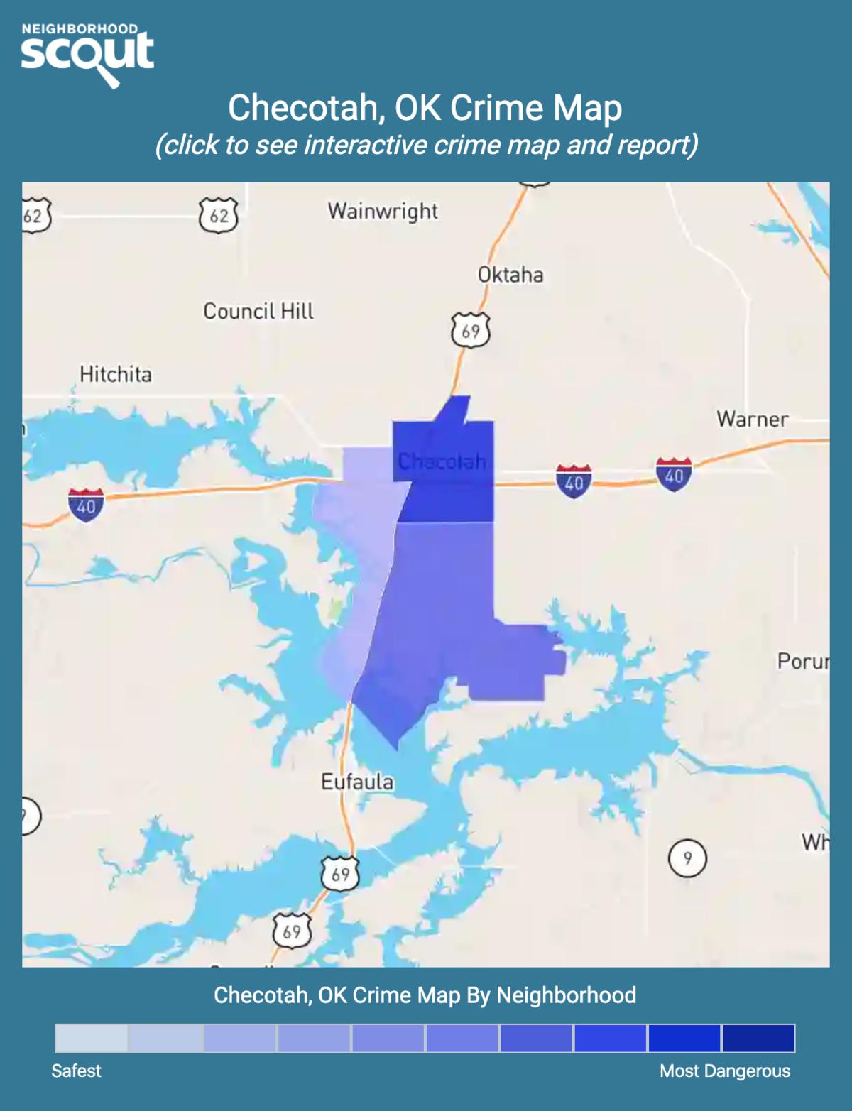 Checotah, Oklahoma crime map