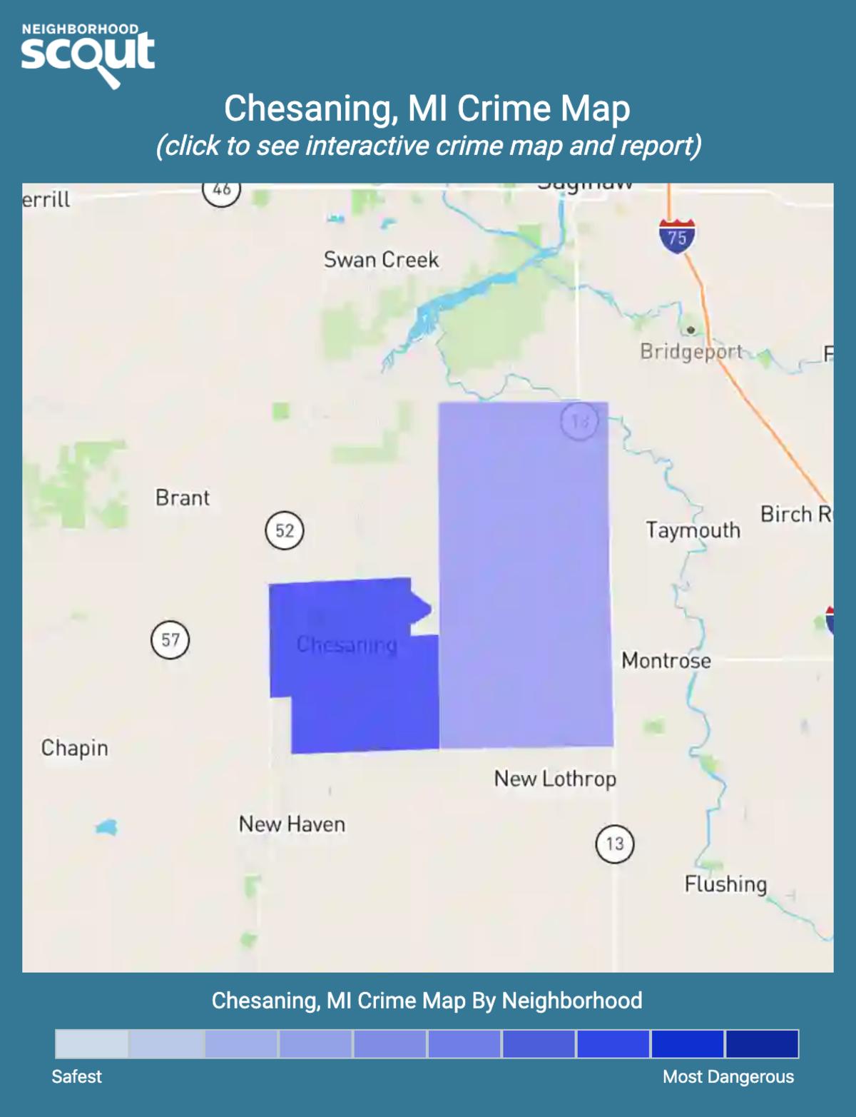 Chesaning, Michigan crime map