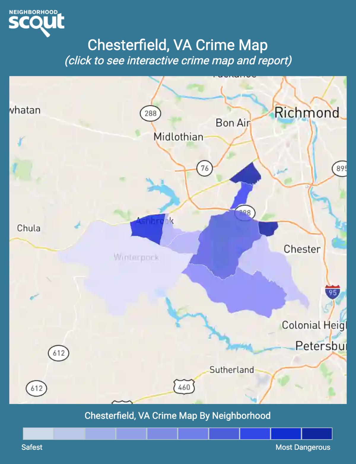 Chesterfield, Virginia crime map