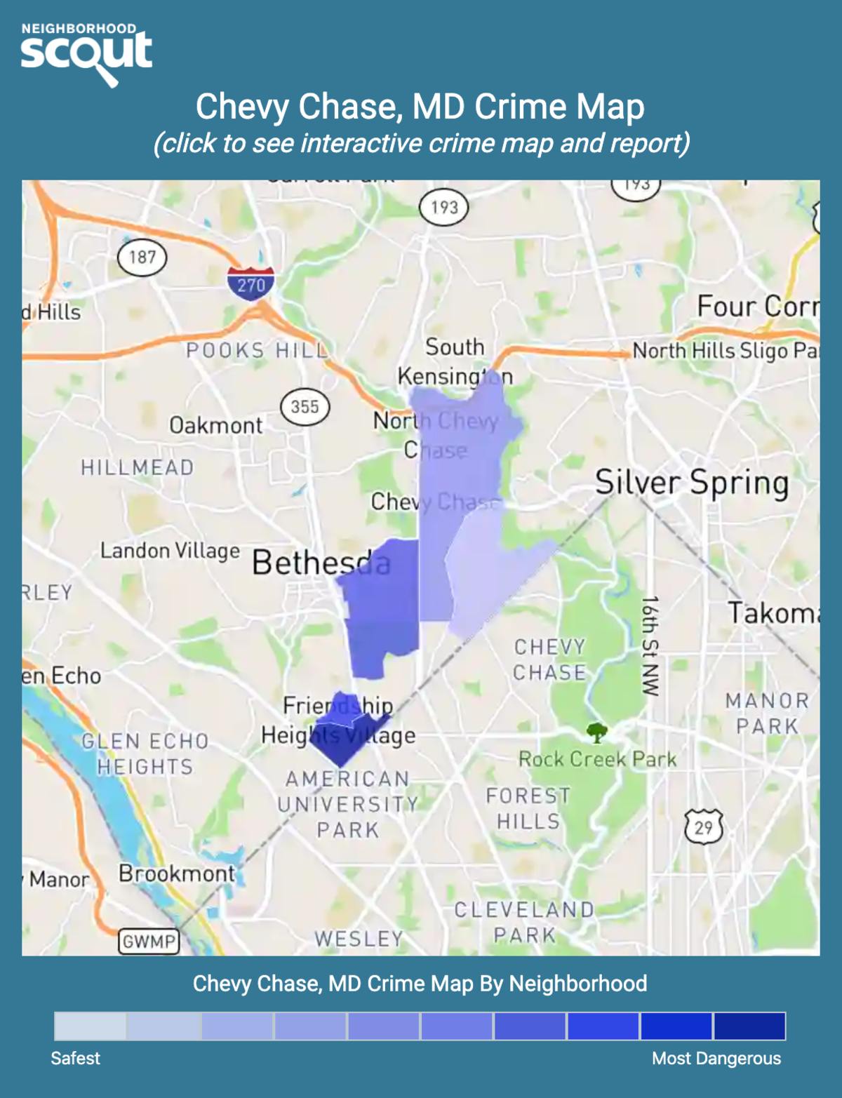 Chevy Chase, Maryland crime map