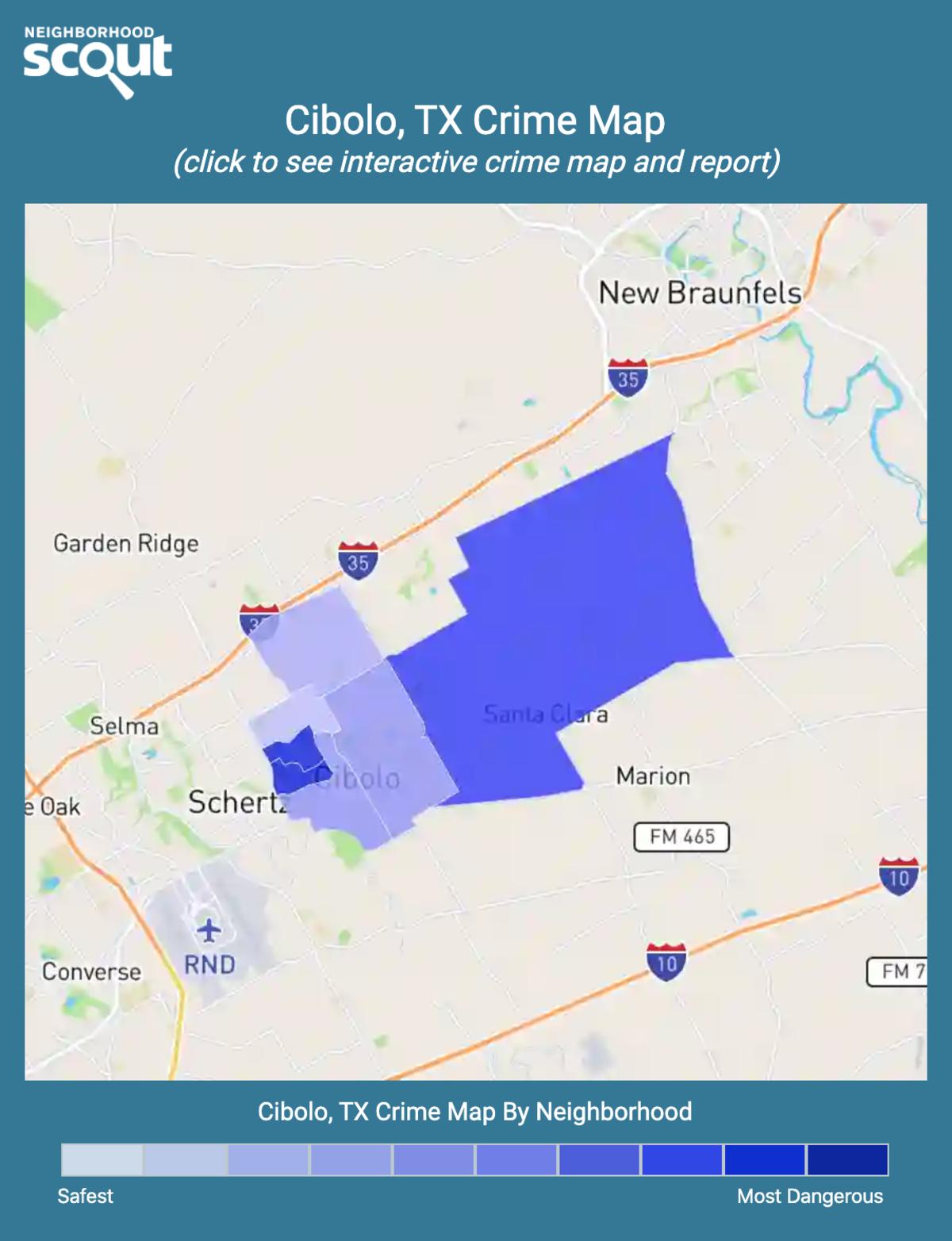 Cibolo, Texas crime map