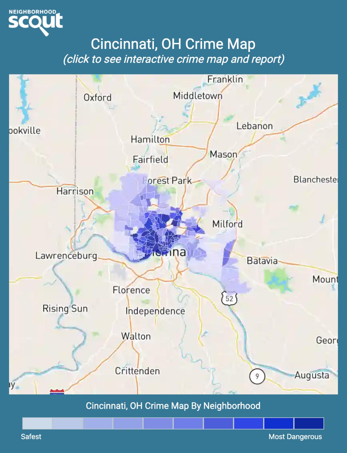 Cincinnati, Ohio crime map
