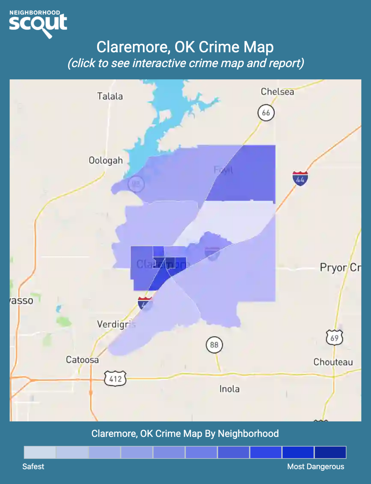 Claremore, Oklahoma crime map