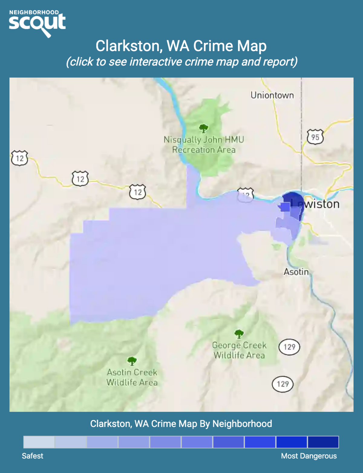 Clarkston, Washington crime map