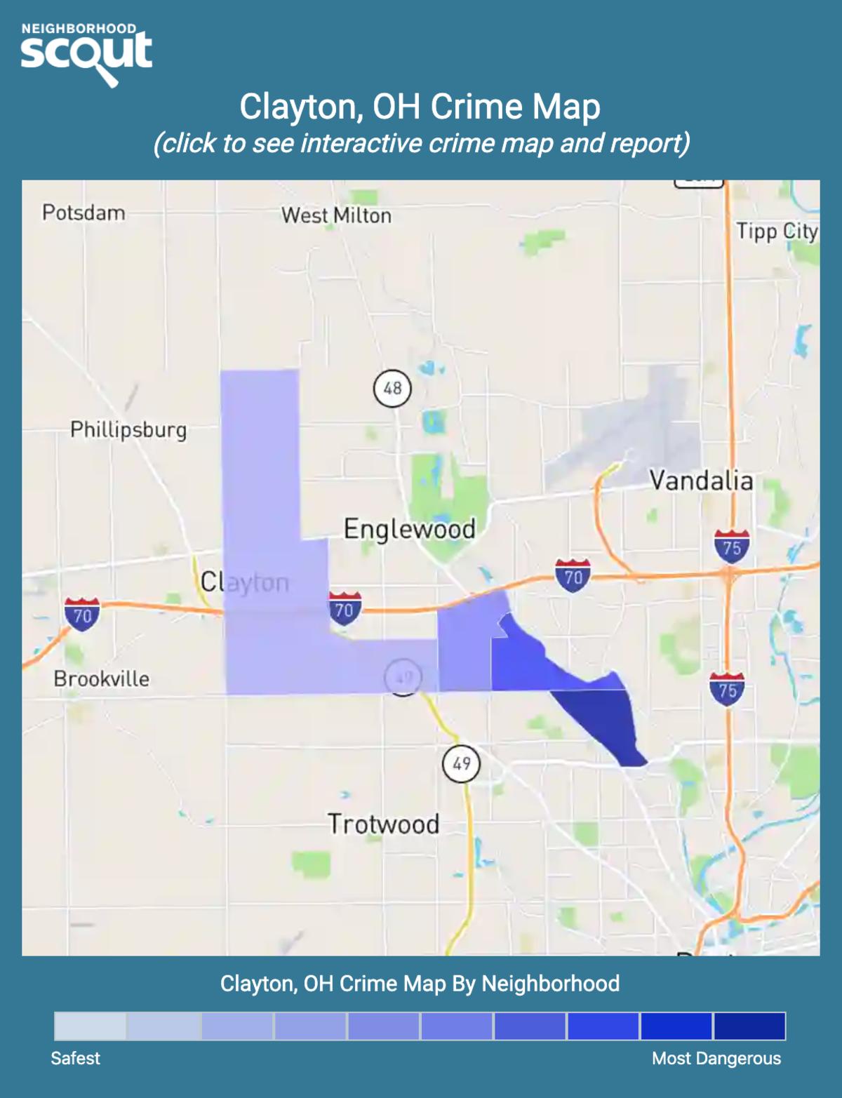 Clayton, Ohio crime map