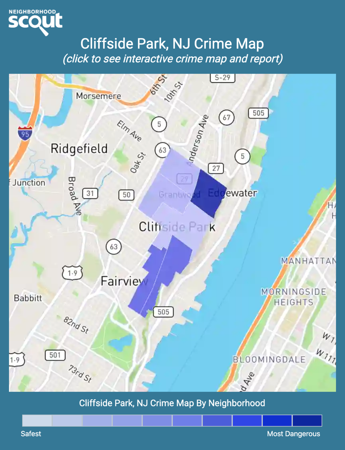 Cliffside Park, New Jersey crime map