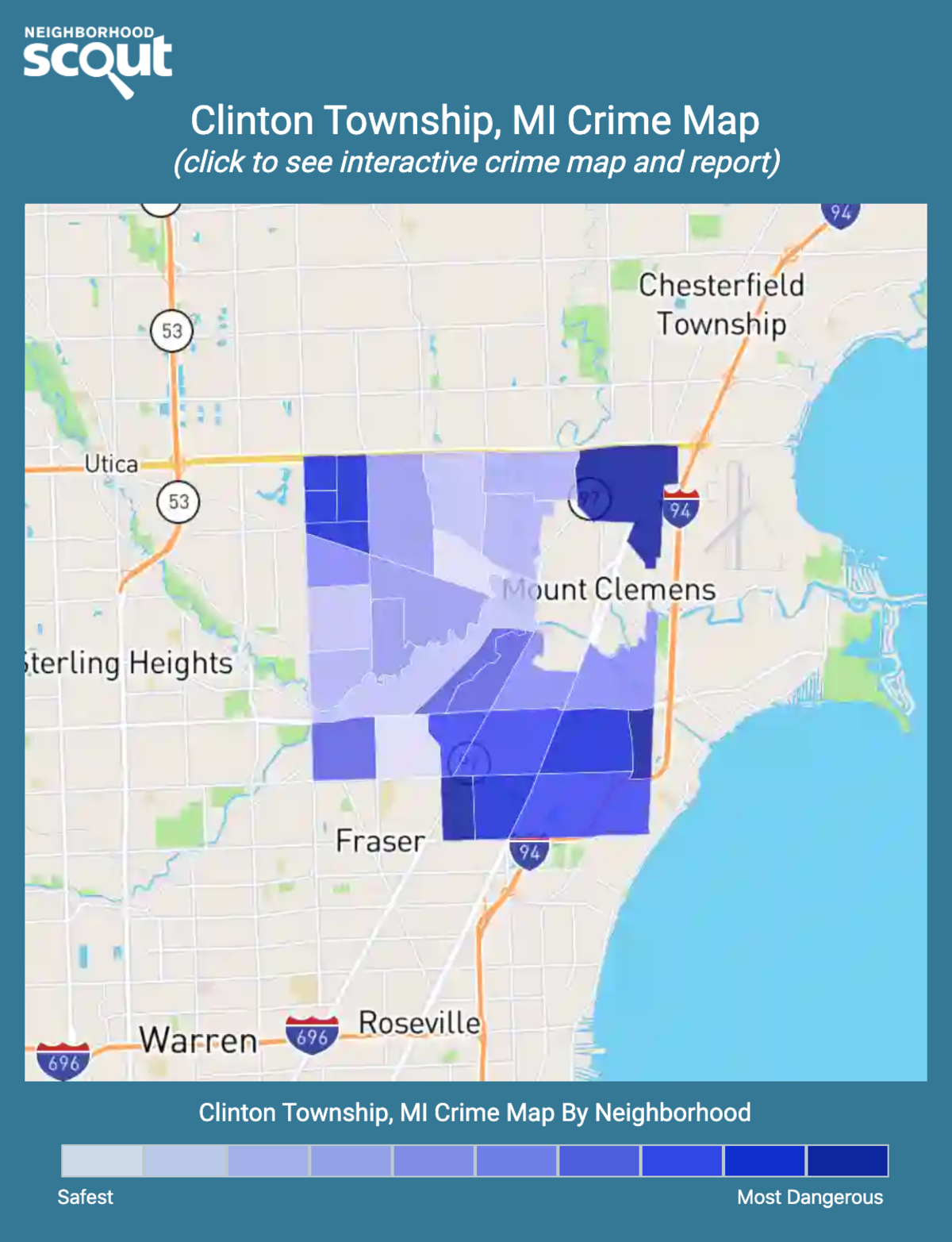 Clinton Township, Michigan crime map