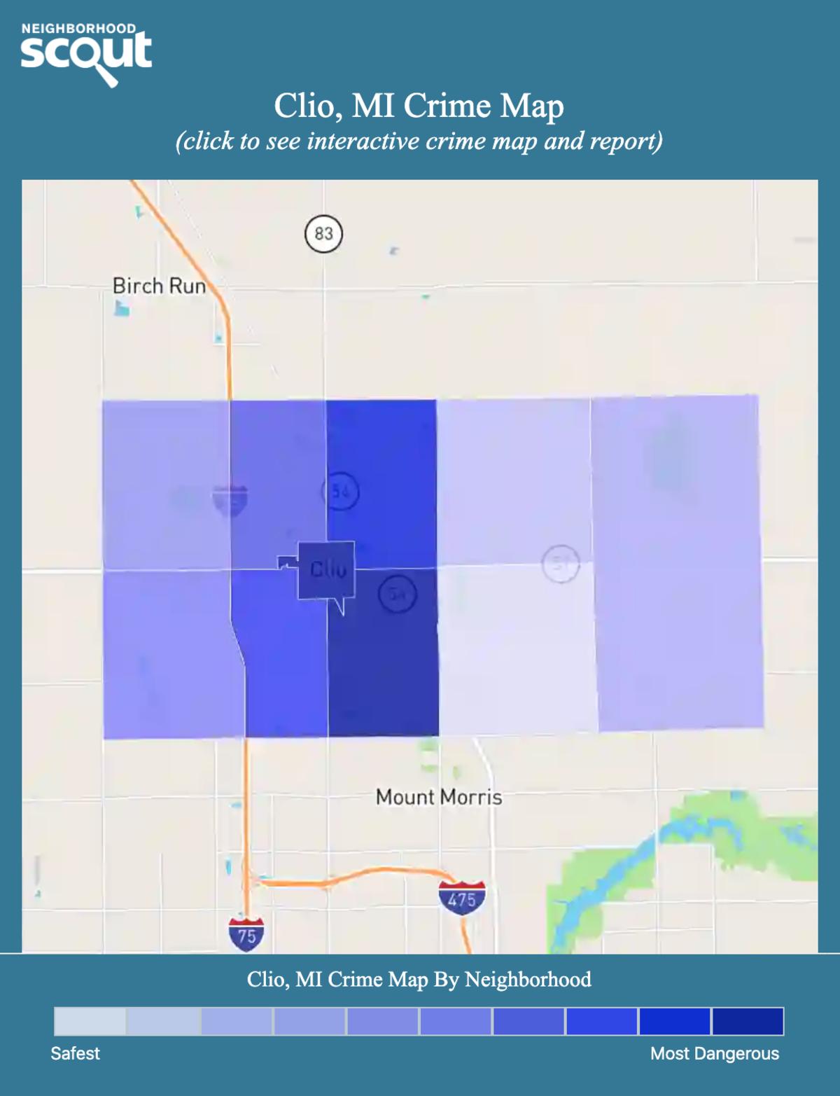 Clio, Michigan crime map