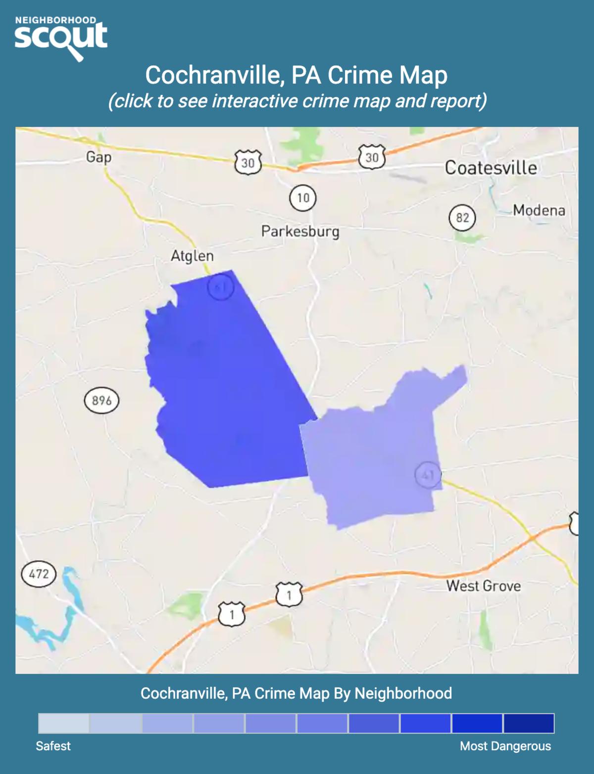 Cochranville, Pennsylvania crime map