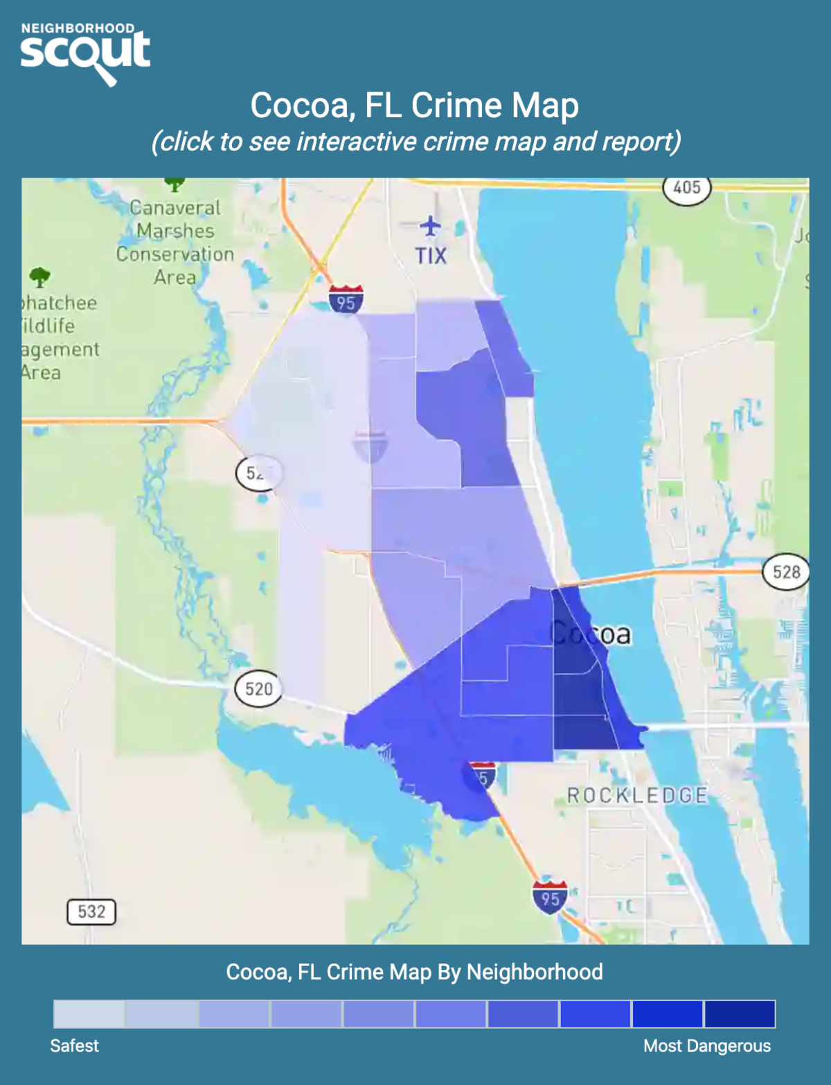 Cocoa, Florida crime map