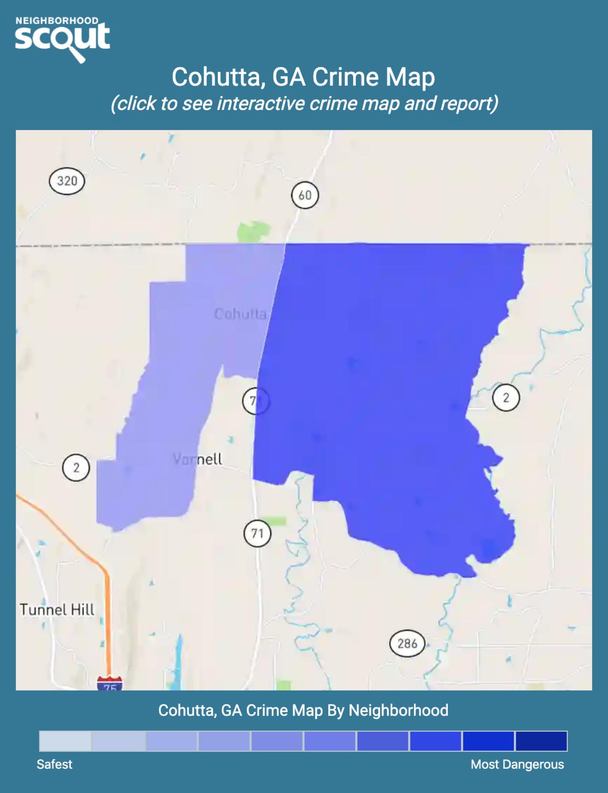 Cohutta, Georgia crime map