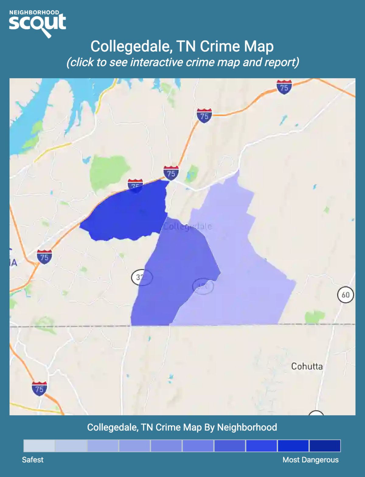Collegedale, Tennessee crime map