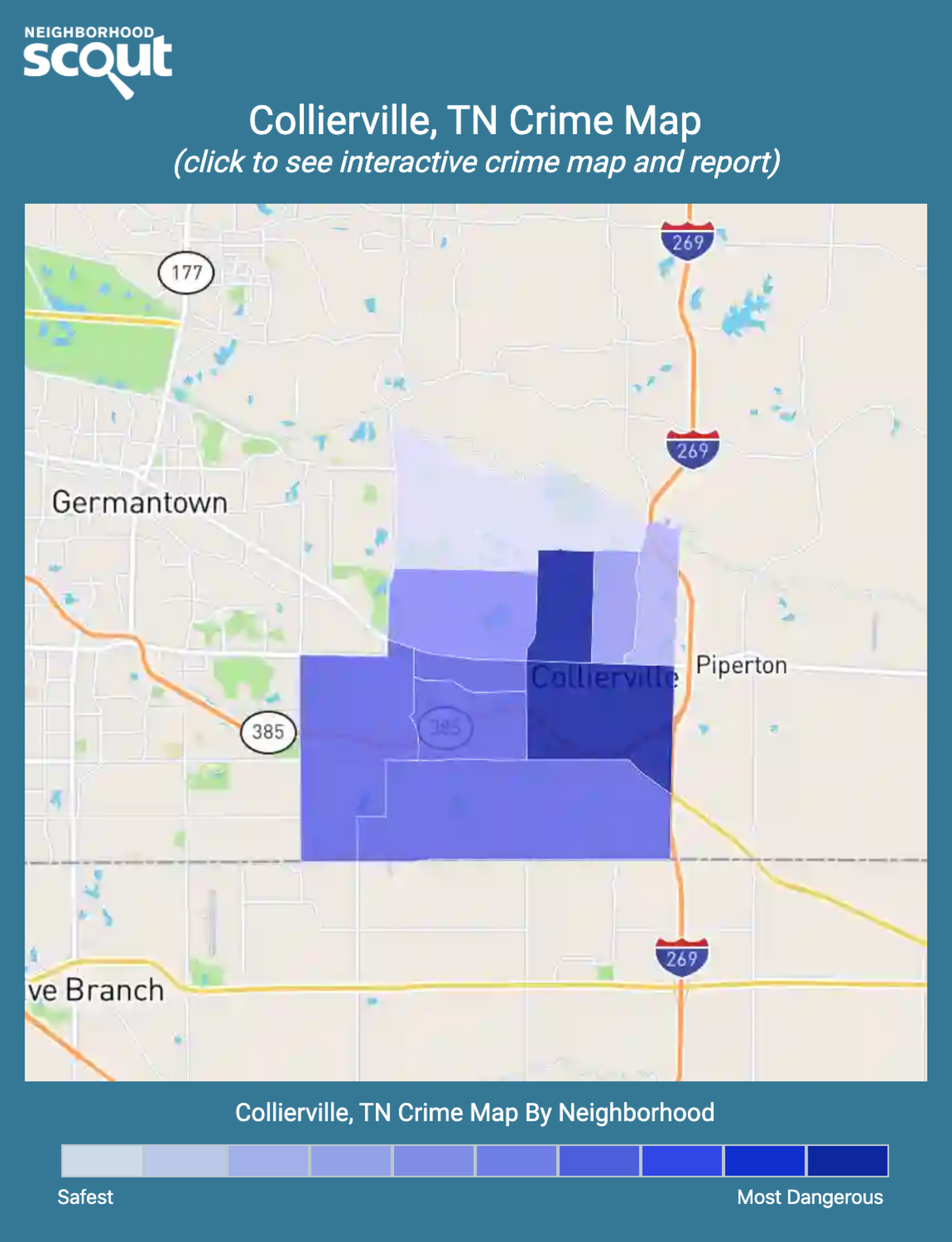 Collierville, Tennessee crime map