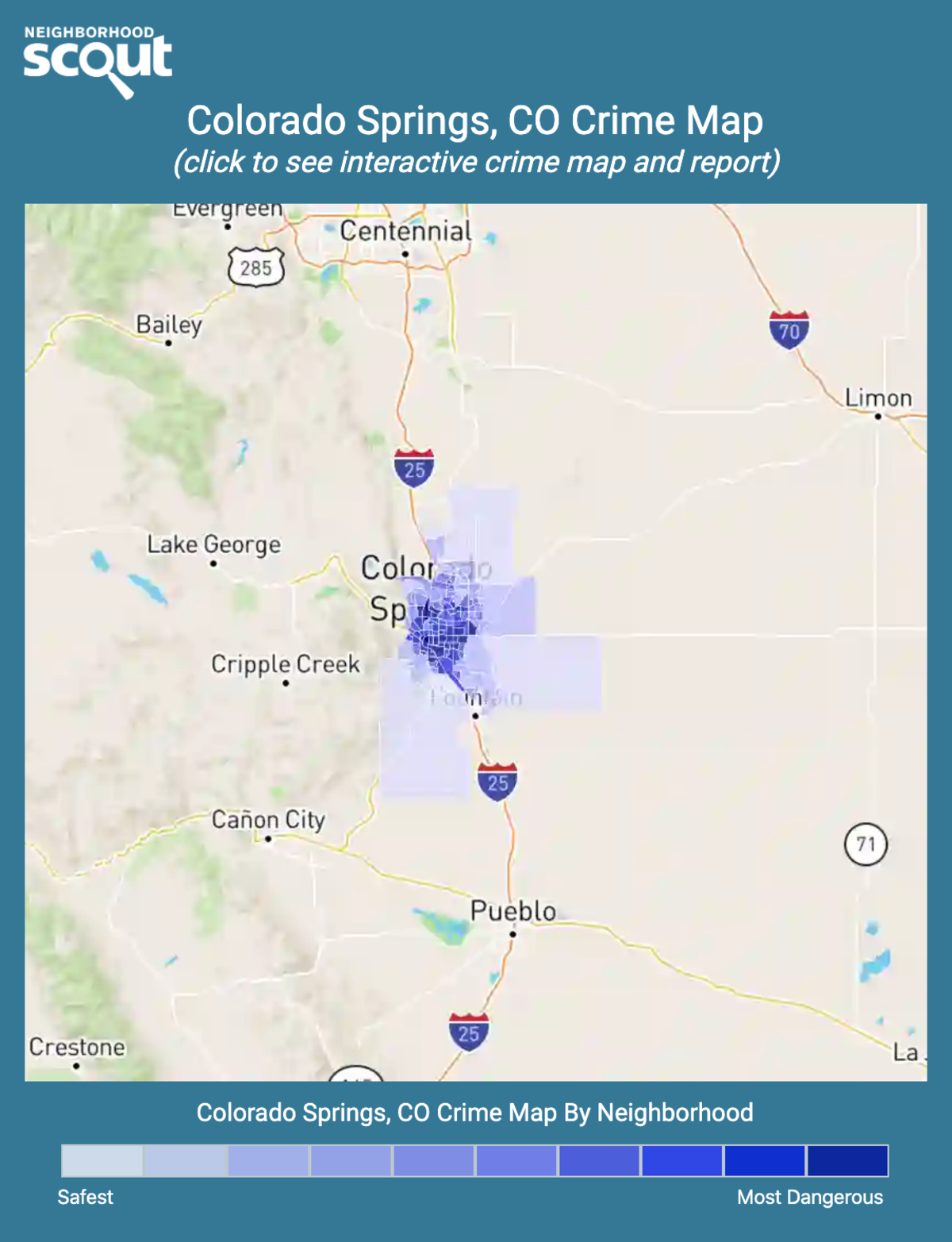 Colorado Springs, Colorado crime map