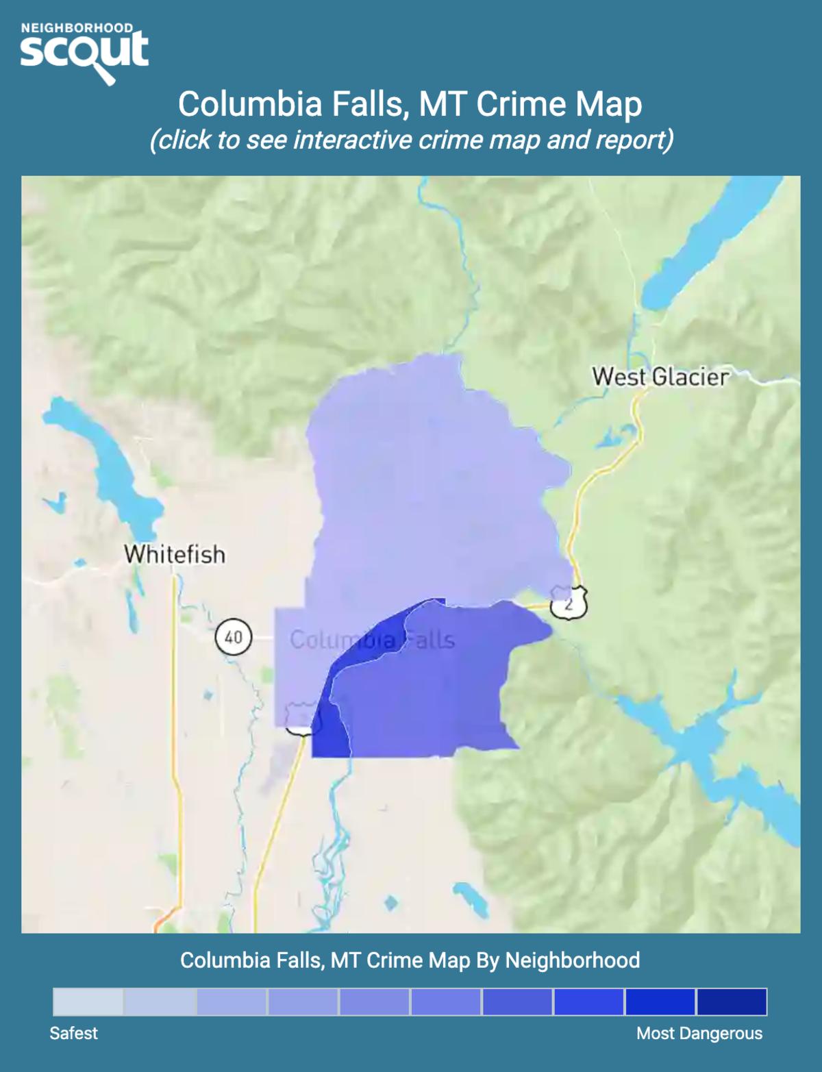 Columbia Falls, Montana crime map
