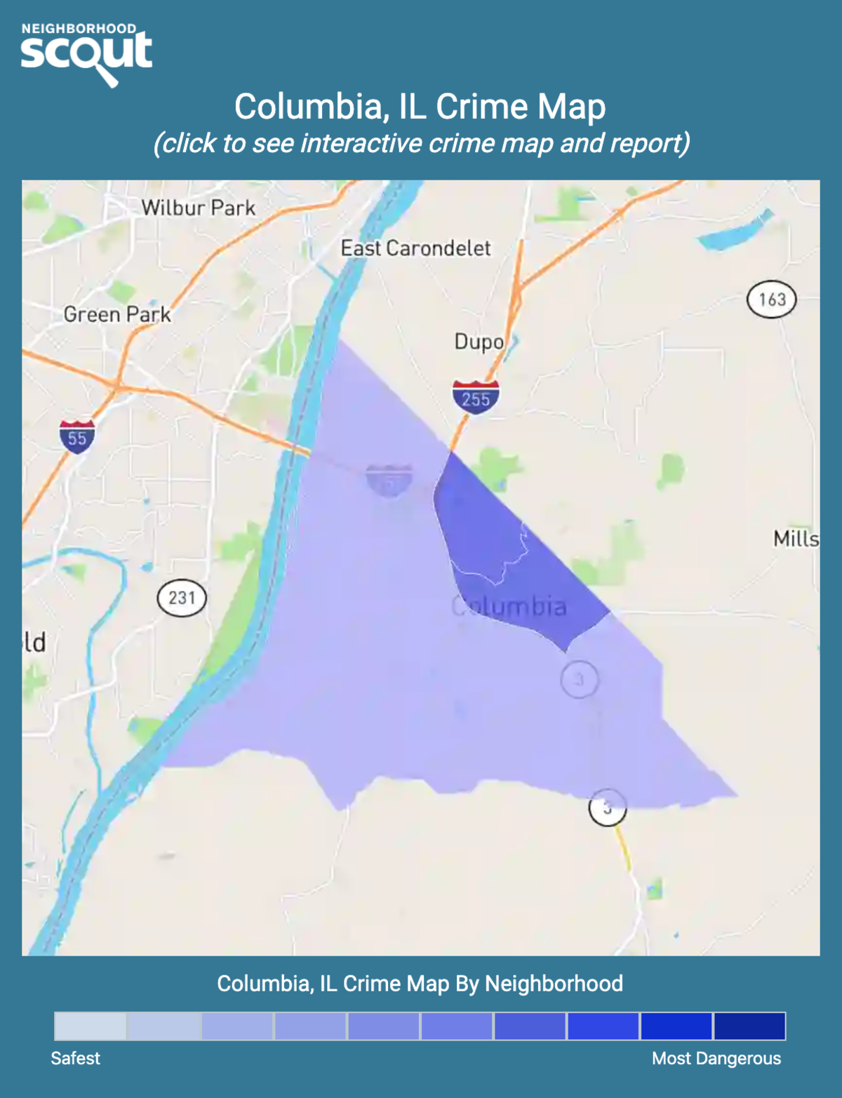 Columbia, Illinois crime map