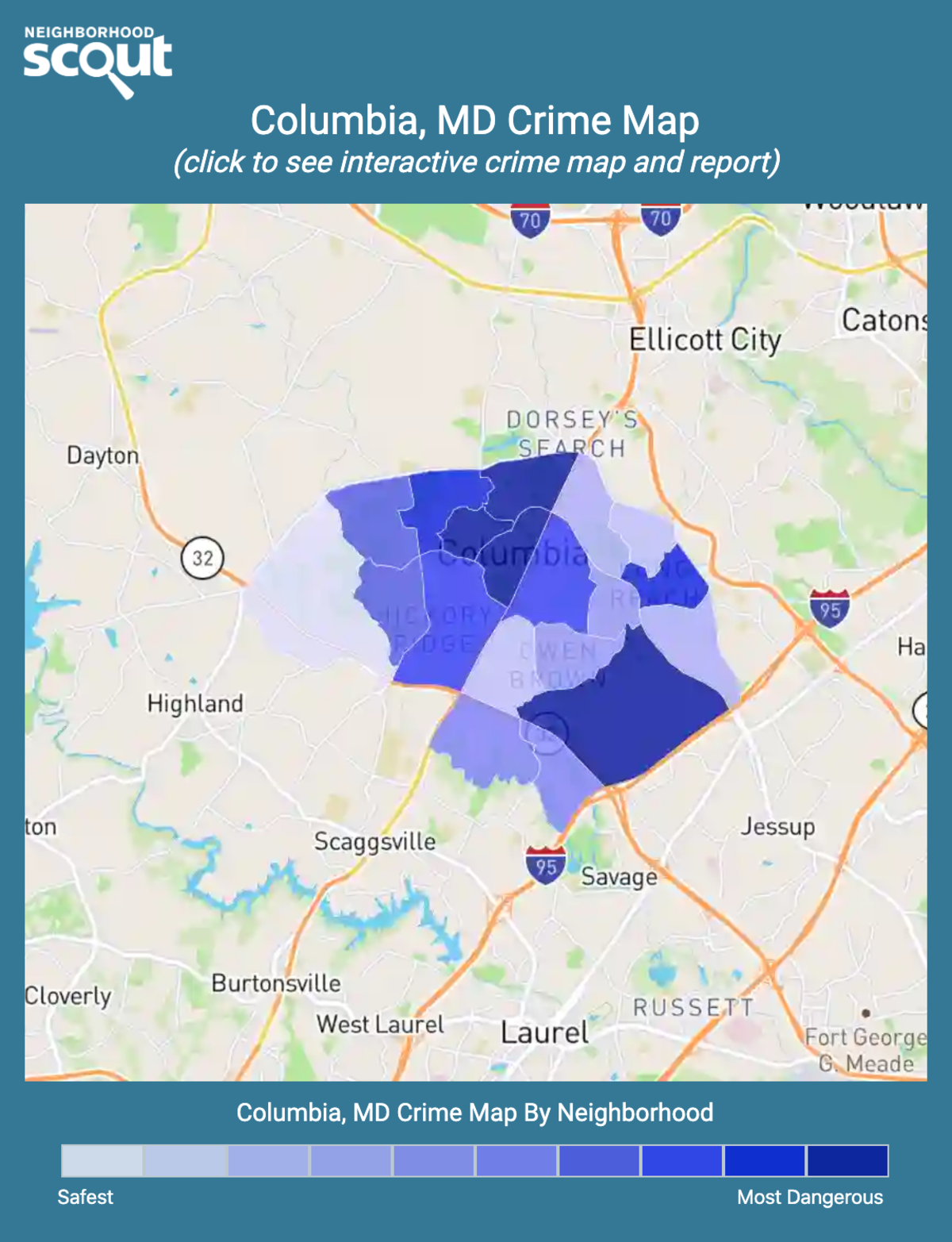 Columbia, Maryland crime map