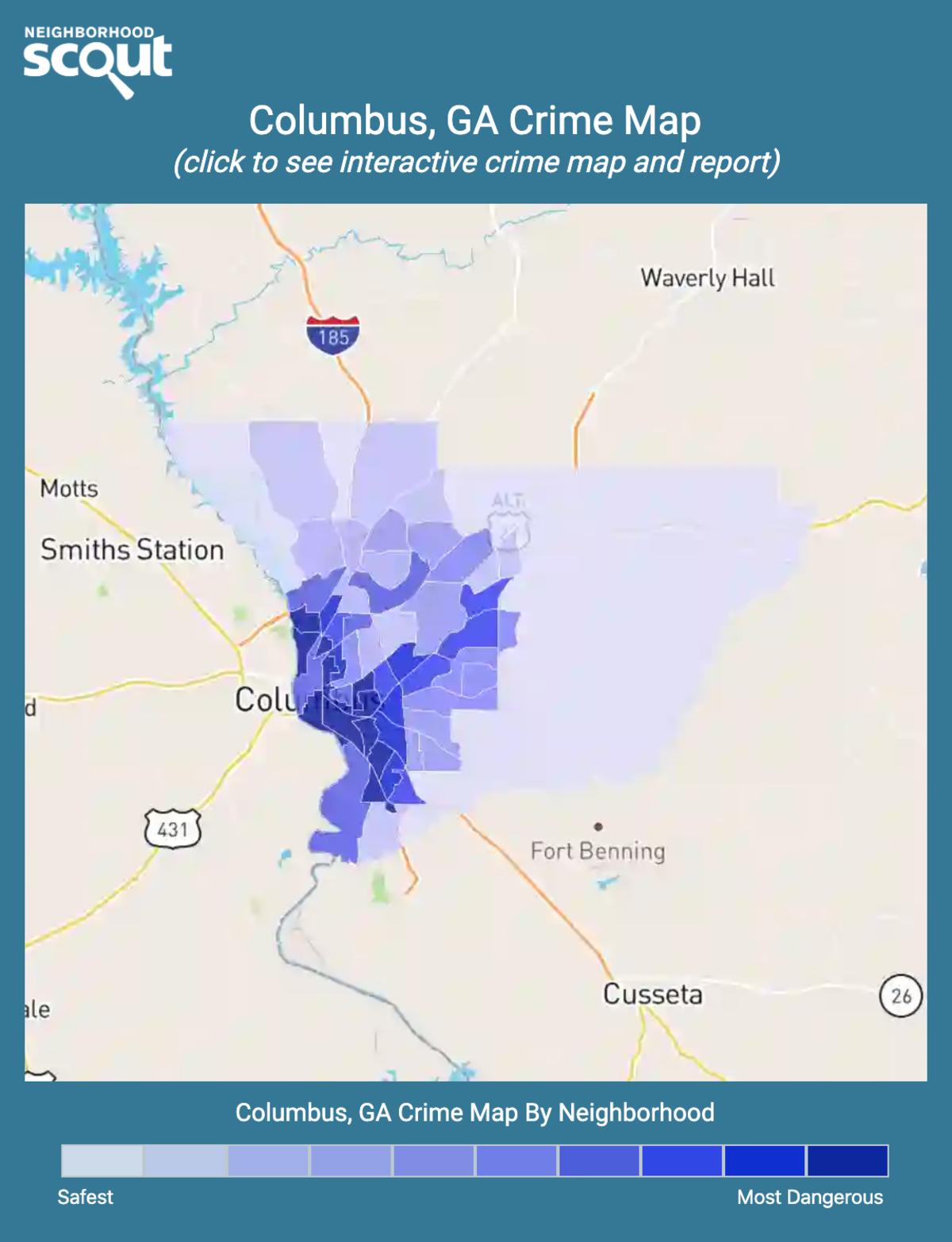 Columbus, Georgia crime map