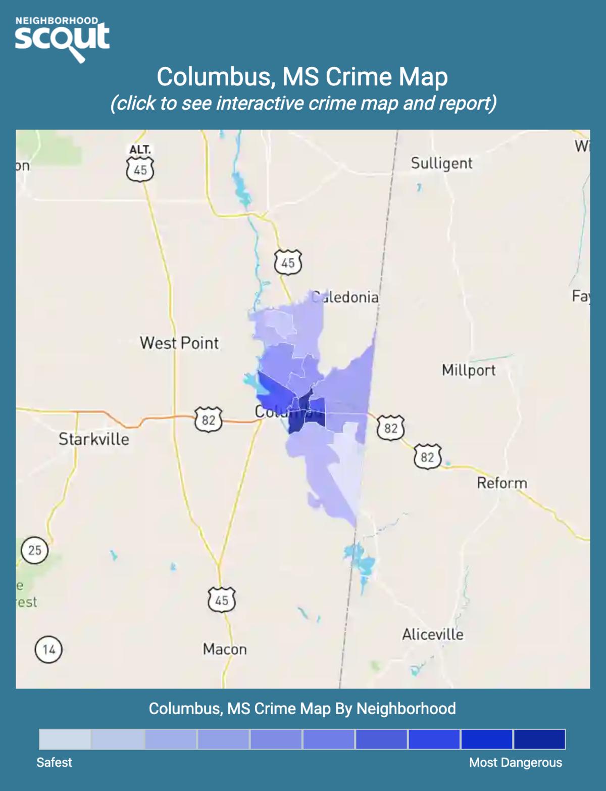 Columbus, Mississippi crime map