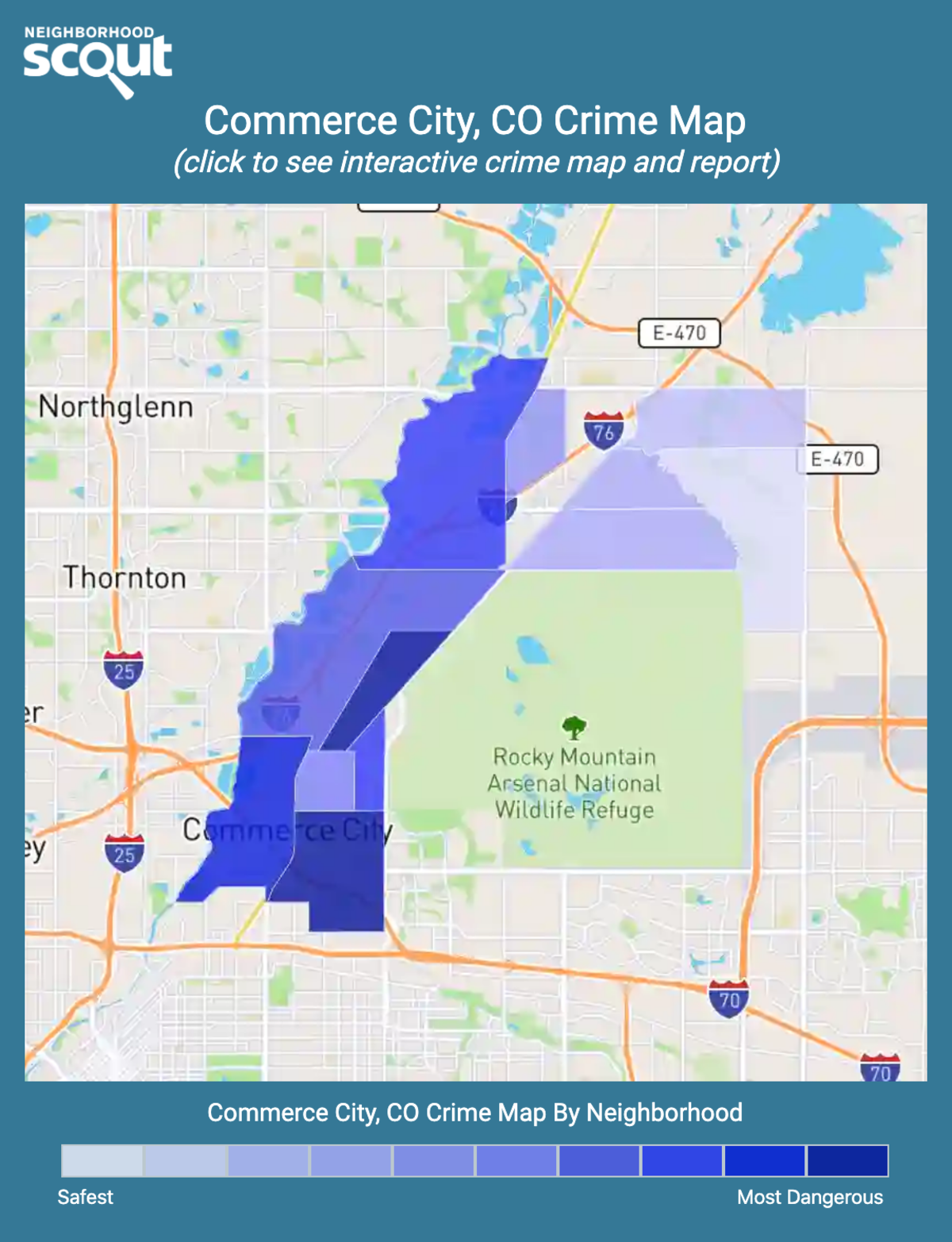 Commerce City, Colorado crime map