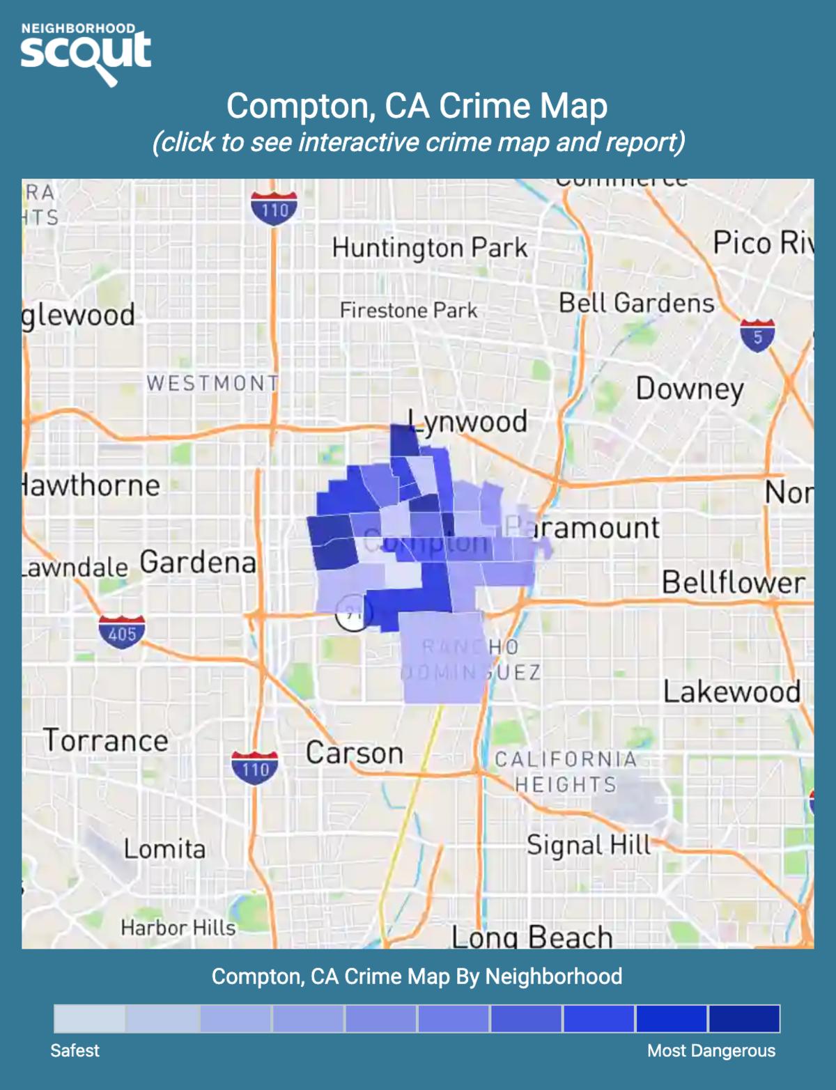 Compton, California crime map