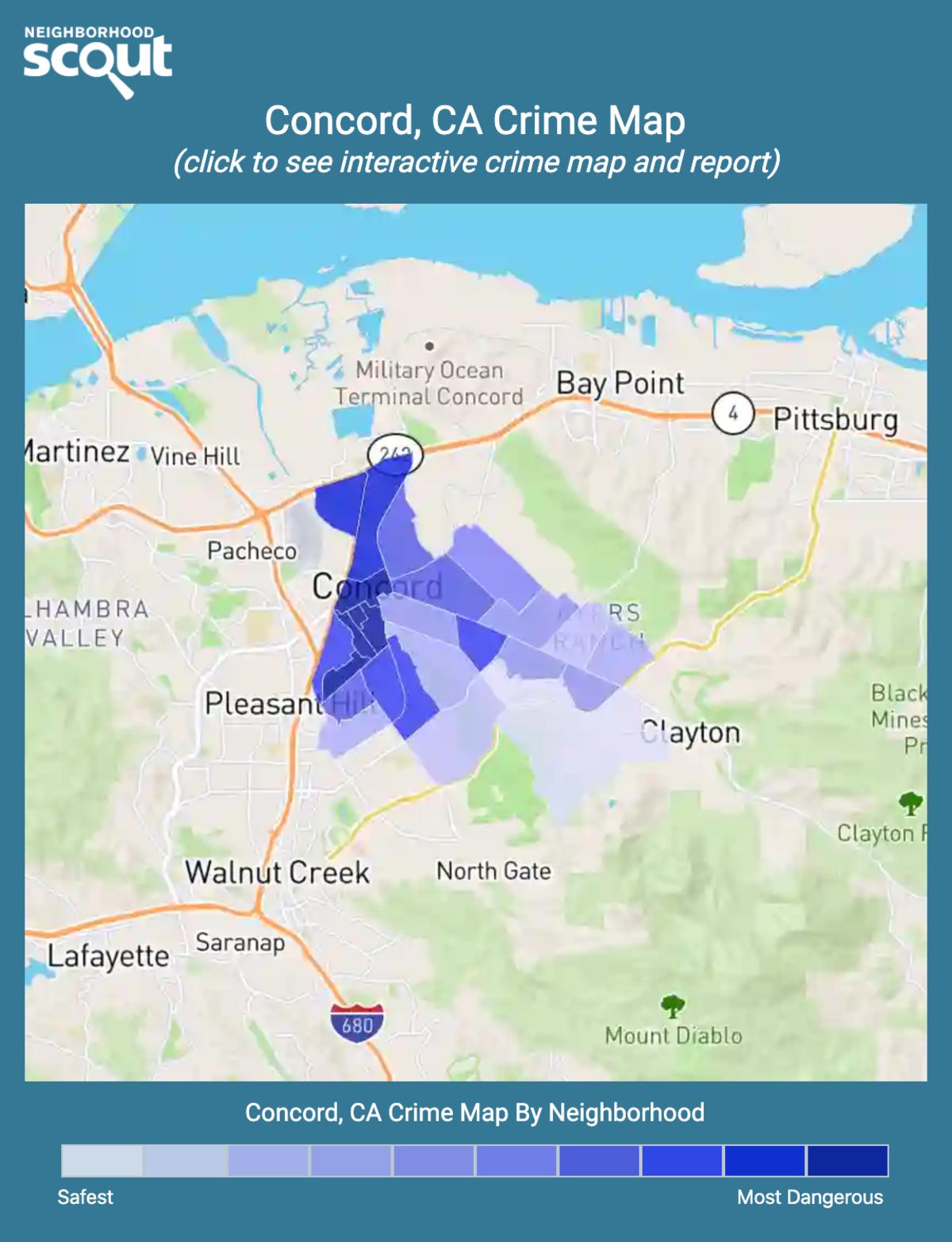 Concord, California crime map